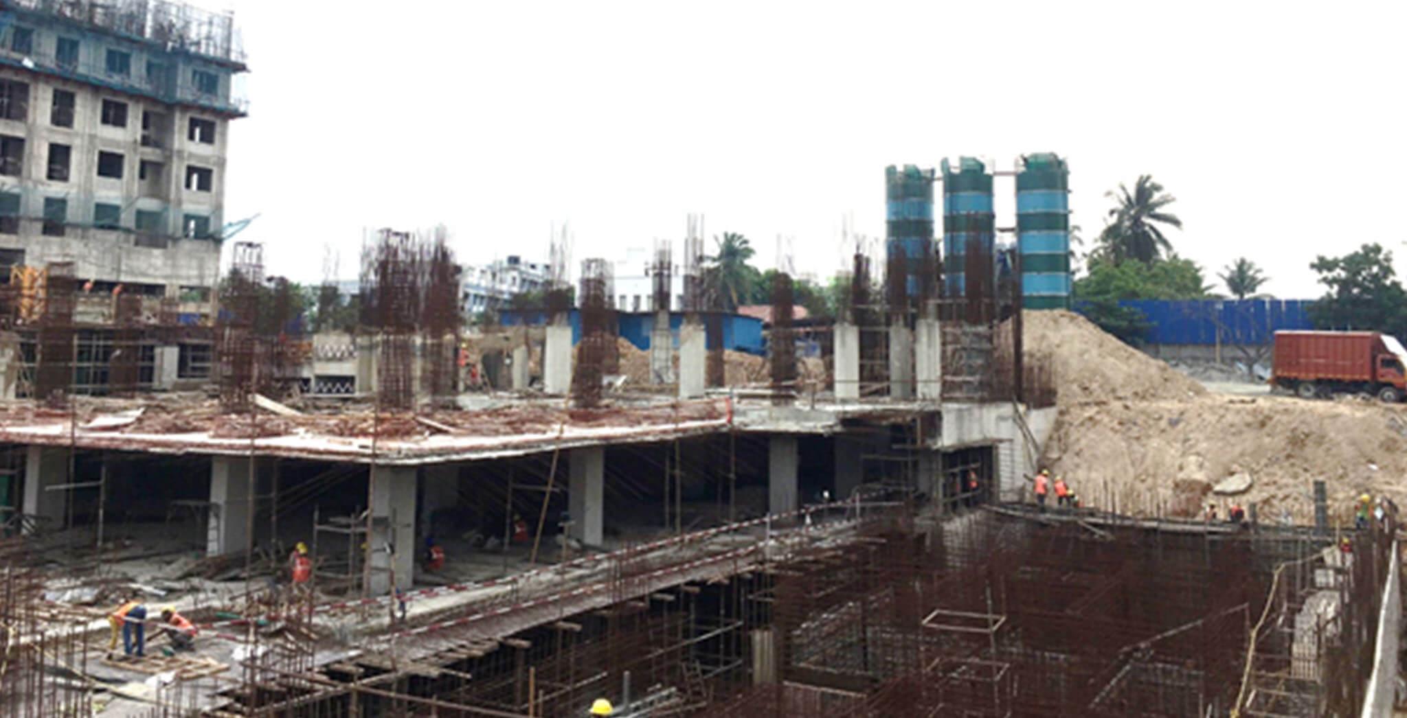 Jun 2021 - Tower A3: Column above ground floor work is in progress