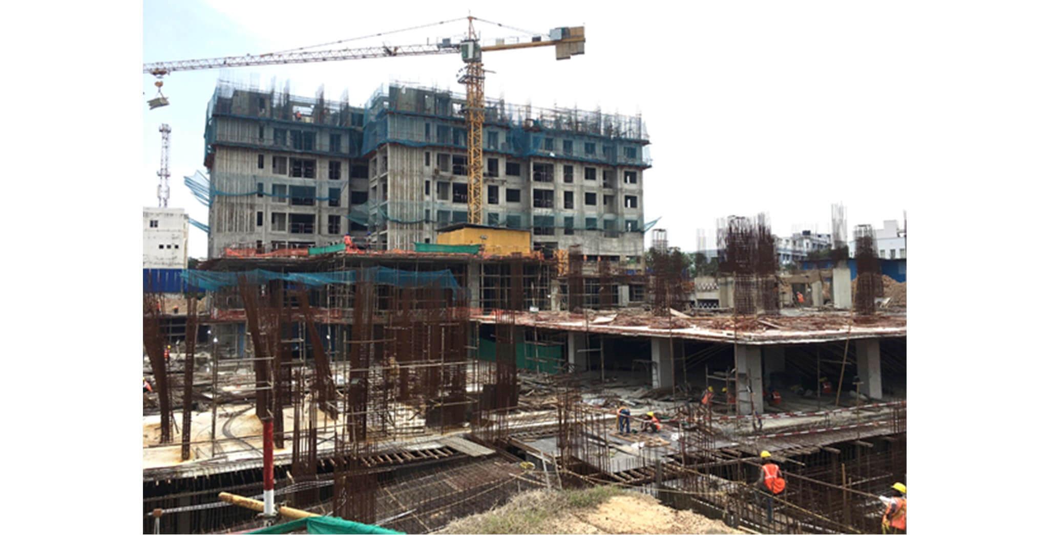 Jun 2021 - Non Tower: Basement 1 and Column above raft work is in progress