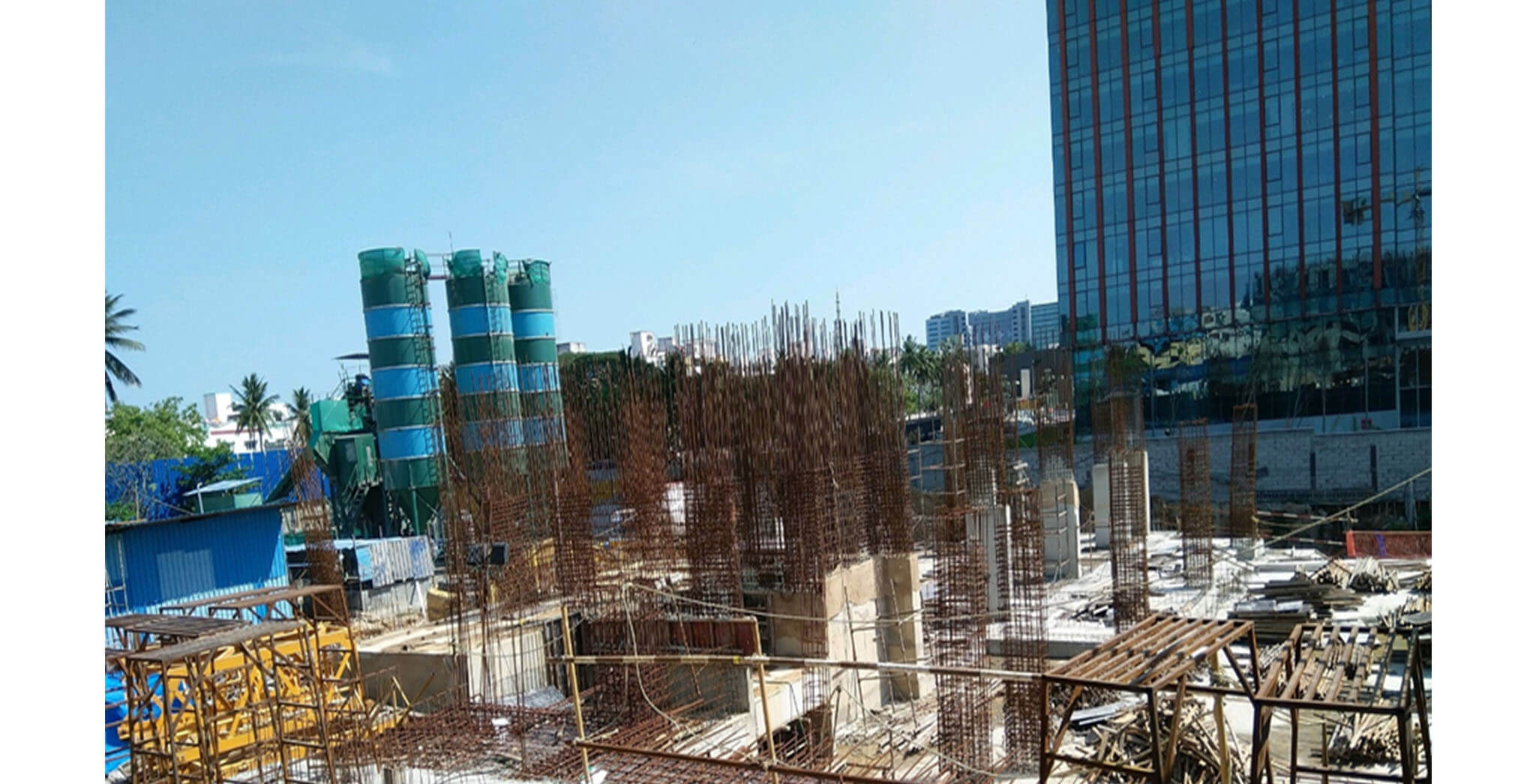 May 2021 - Tower A3: Column above ground floor work is in progress