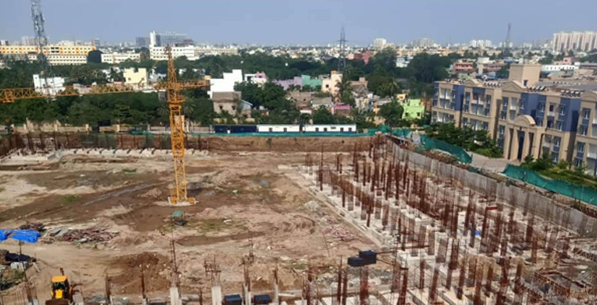 Jun 2021 - Blocks E & F: Excavation completed, foundational works completed; Block L: Excavation completed