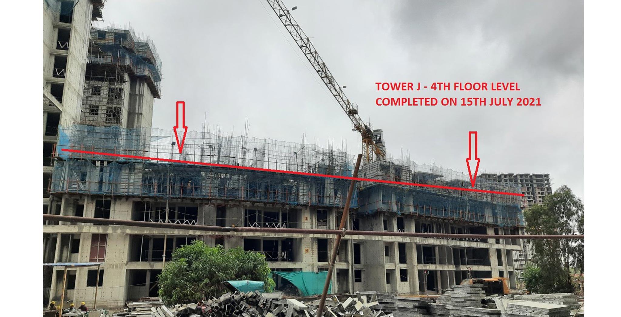 Jul 2021 - Halcyon: On Casting of 4th floor Slab- Tower J