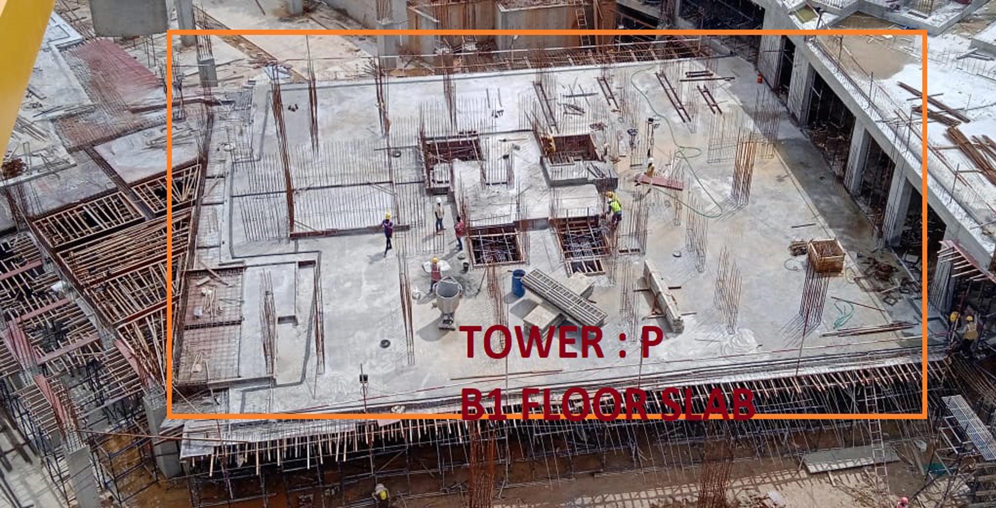 Jul 2021 - Tranquil Building: Tower  P - Casting of Upper Basement slab