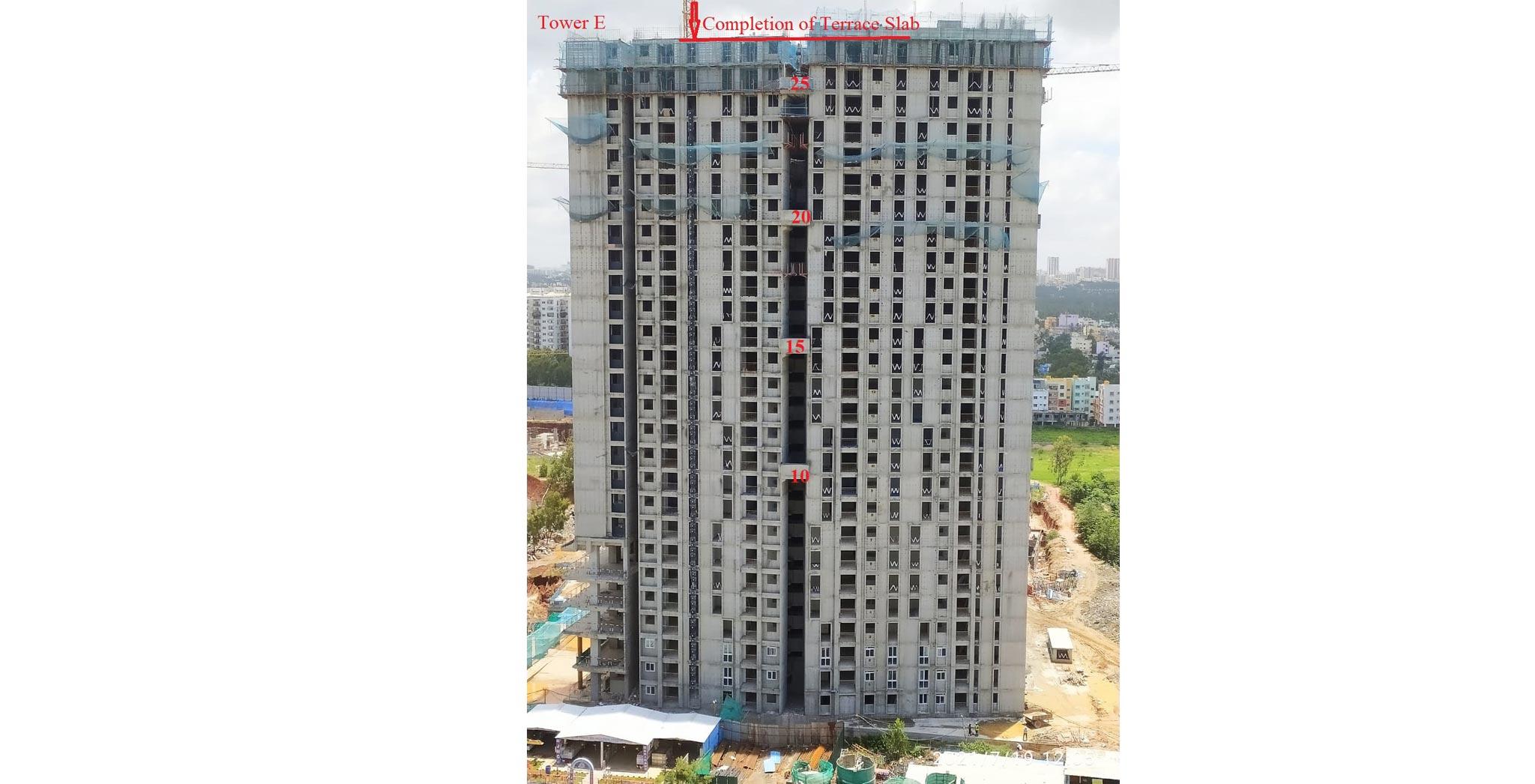 Jul 2021 - Eden Tower E - On Casting of Terrace slab