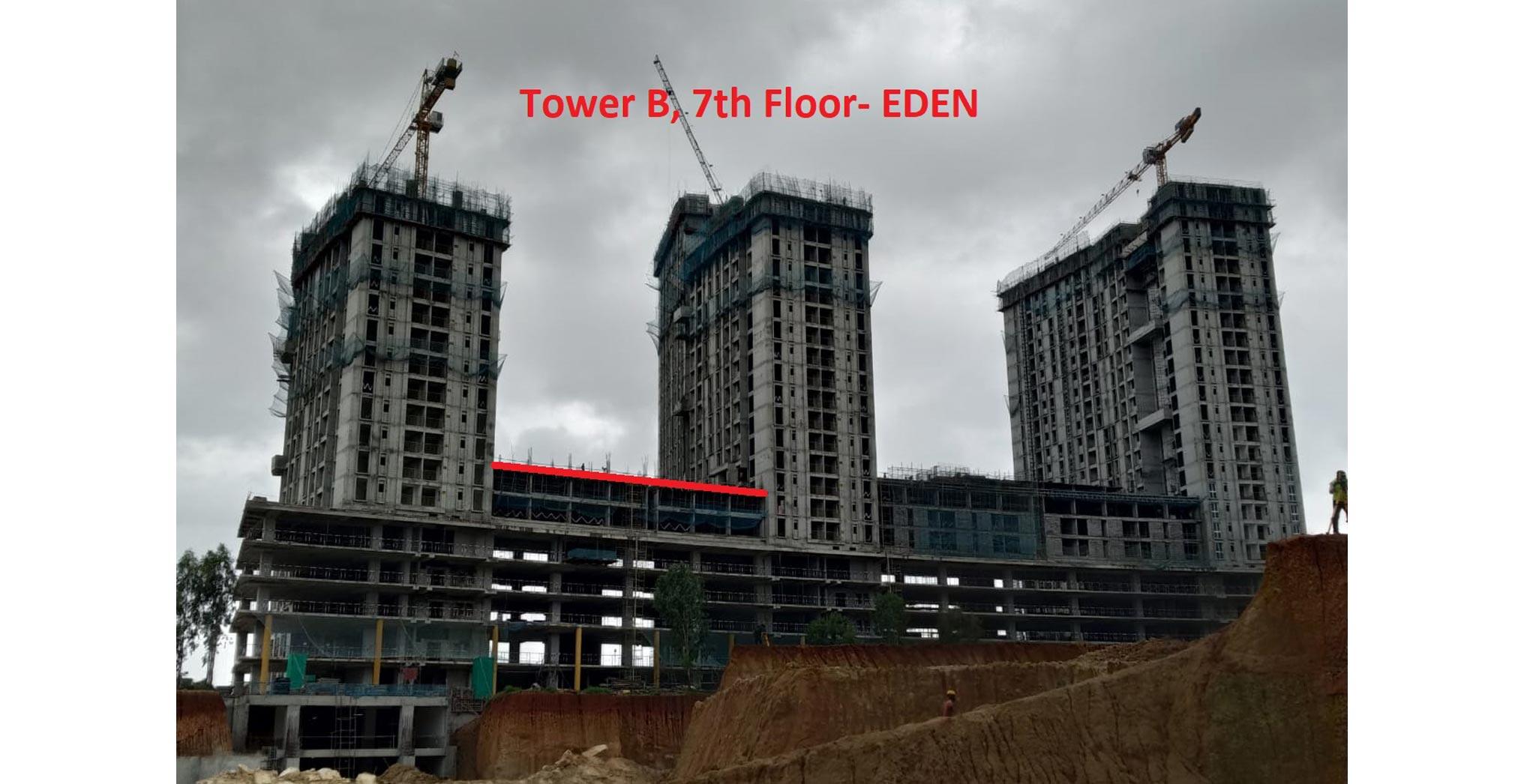 Jul 2021 - Eden-Tower B - Completion of 7th floor slab Milestone
