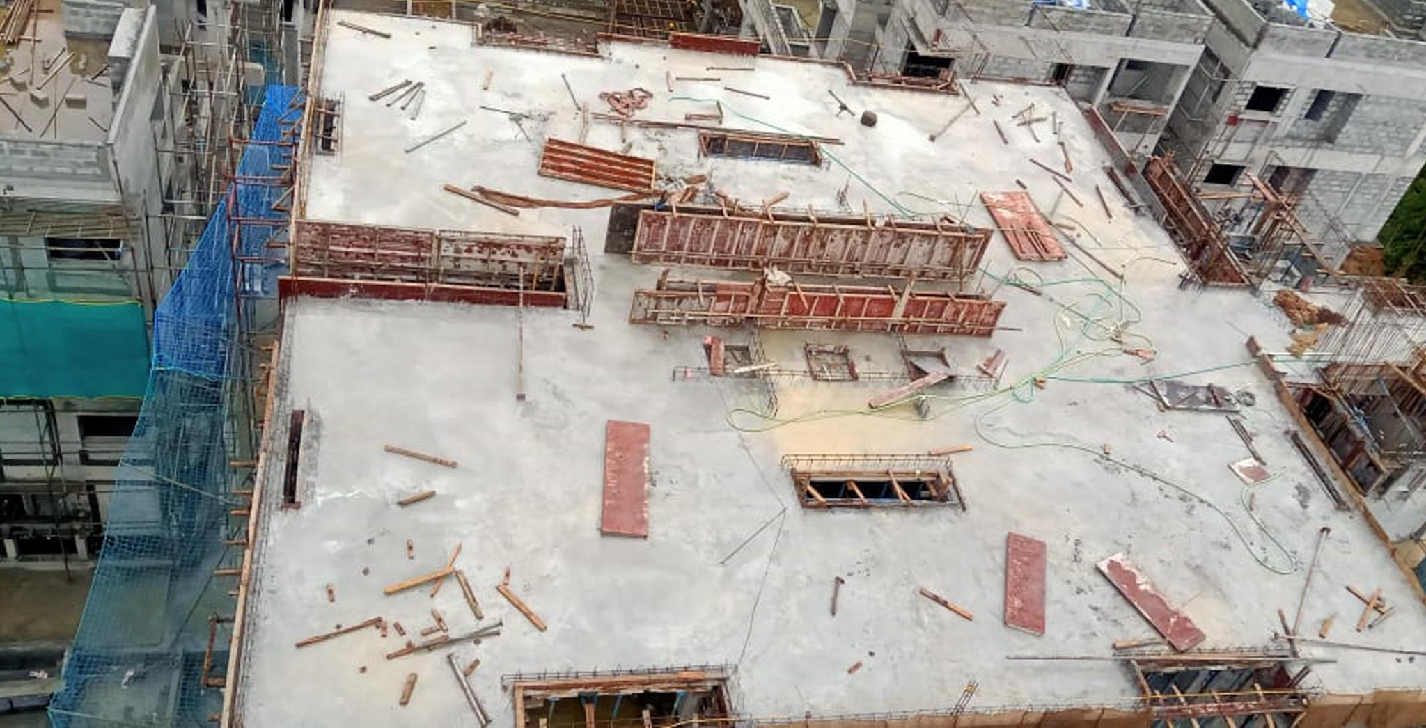 Jul 2021 - Block S - On Casting of Terrace Floor slab