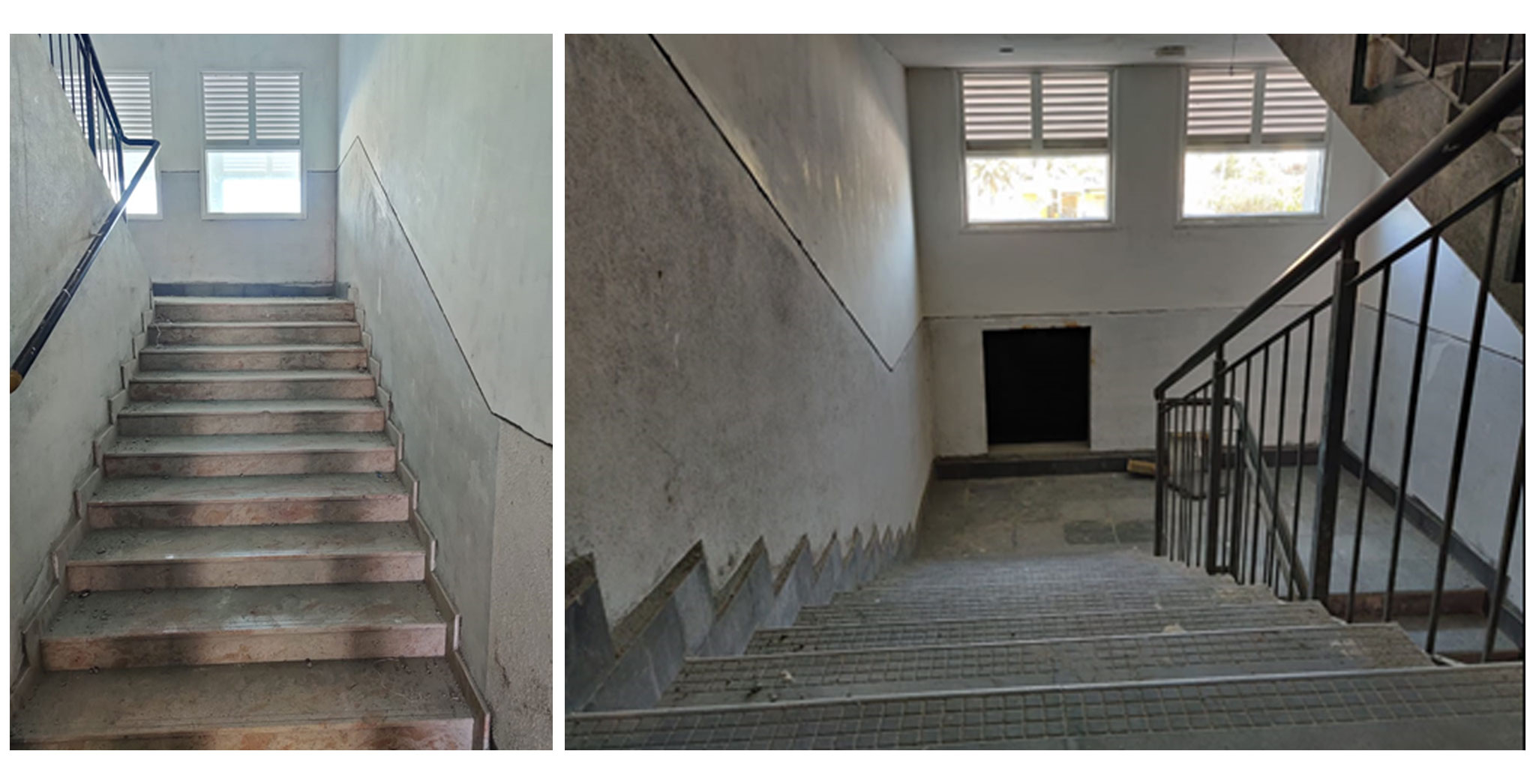 Jul 2021 - Staircase area: Painting work in progress