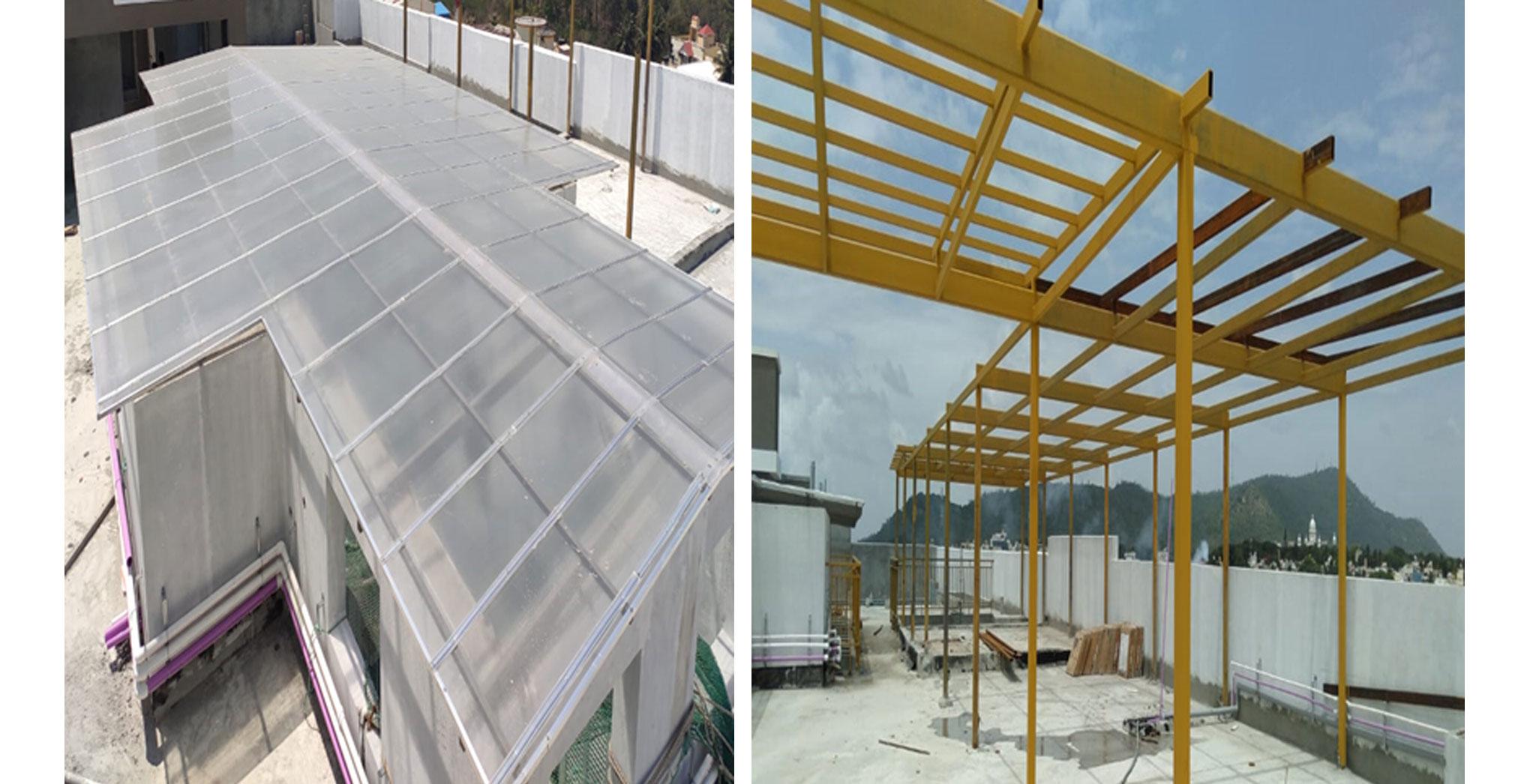 Jul 2021 - Terrace: MS works & skylight in progress