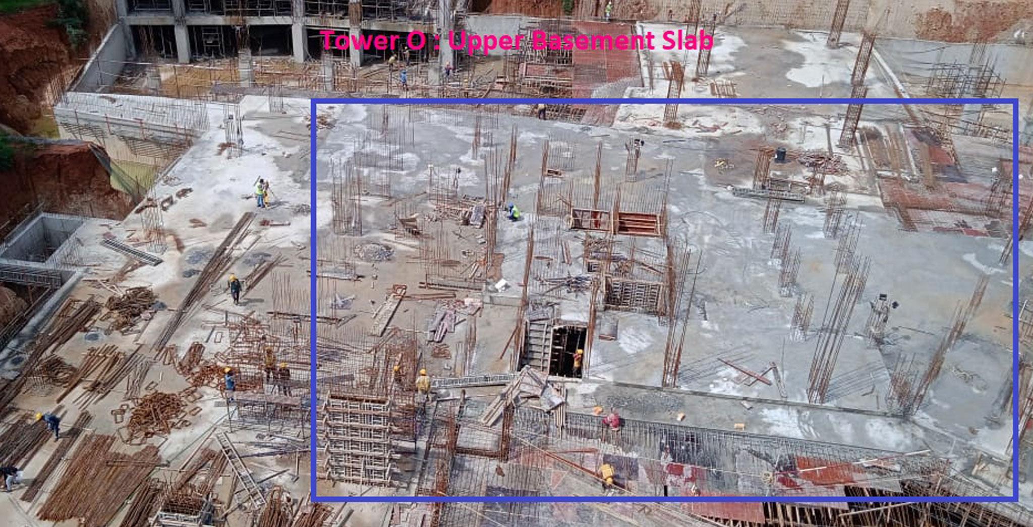 Aug 2021 - Tranquil Tower O: Casting of Upper basement floor slab