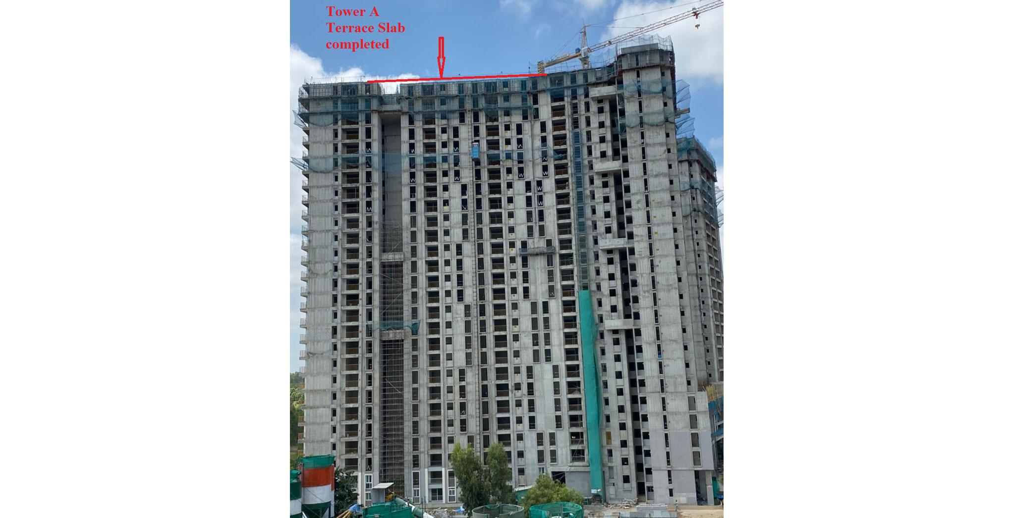 Aug 2021 - Brigade Cornerstone Utopia Serene Tower/Wing A: Casting of Terrace Floor Slab