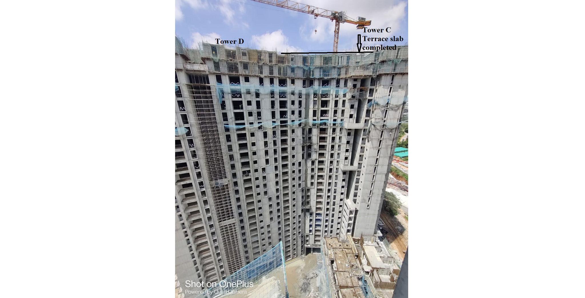 Aug 2021 - Brigade Cornerstone Utopia Serene Tower/Wing C: Casting of Terrace Floor Slab