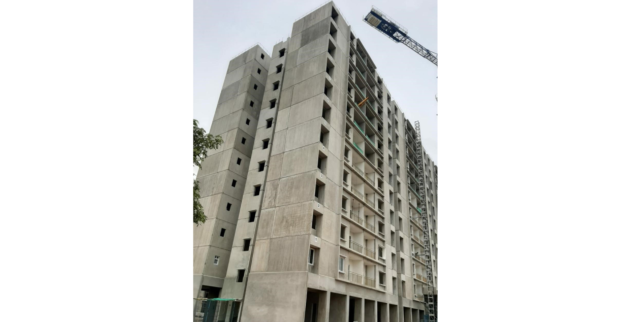 Aug 2021 - A Wing: On Commencement of Eleventh floor slab