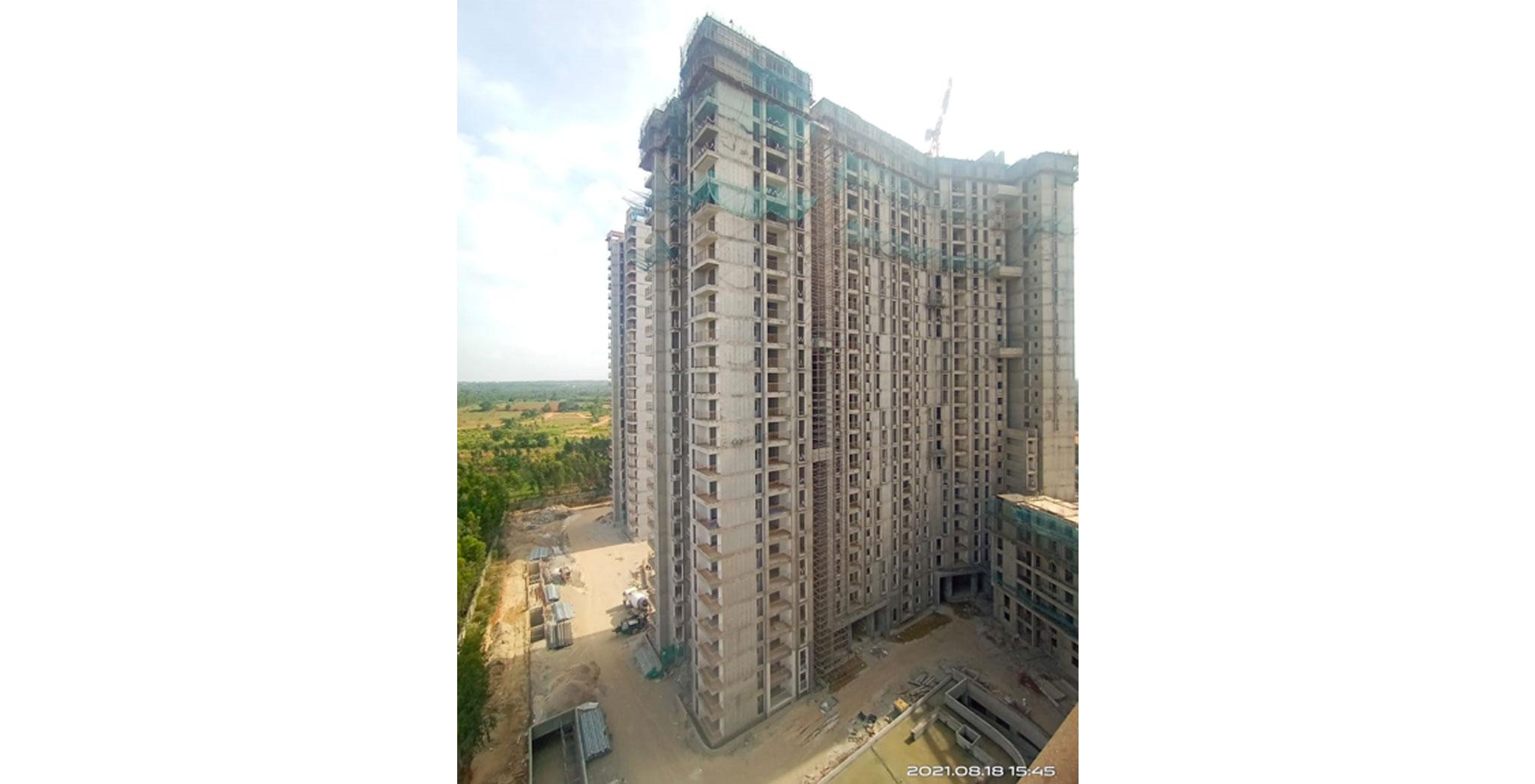 Aug 2021 - Serene Tower/Wing D: Casting of Terrace Floor Slab
