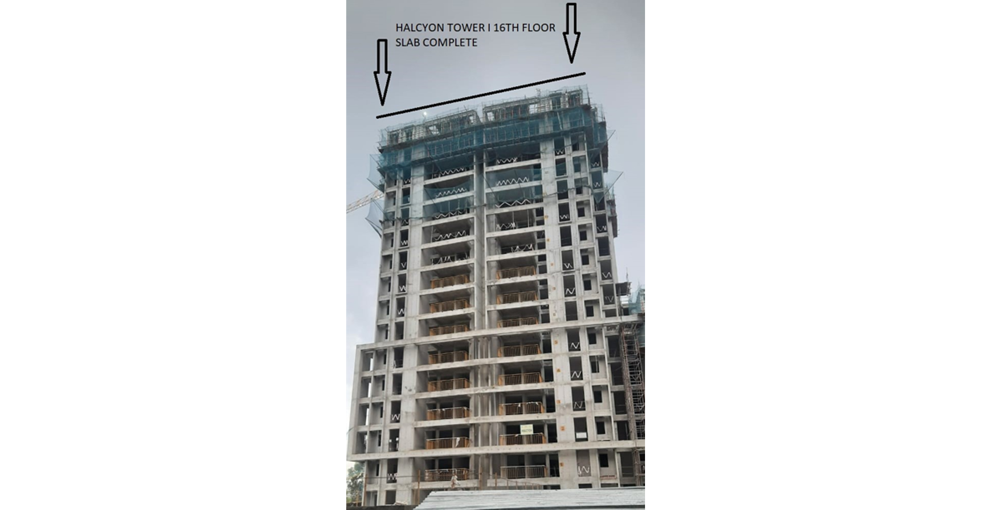 Sep 2021 - Halcyon Tower I: Casting of 16th floor Slab