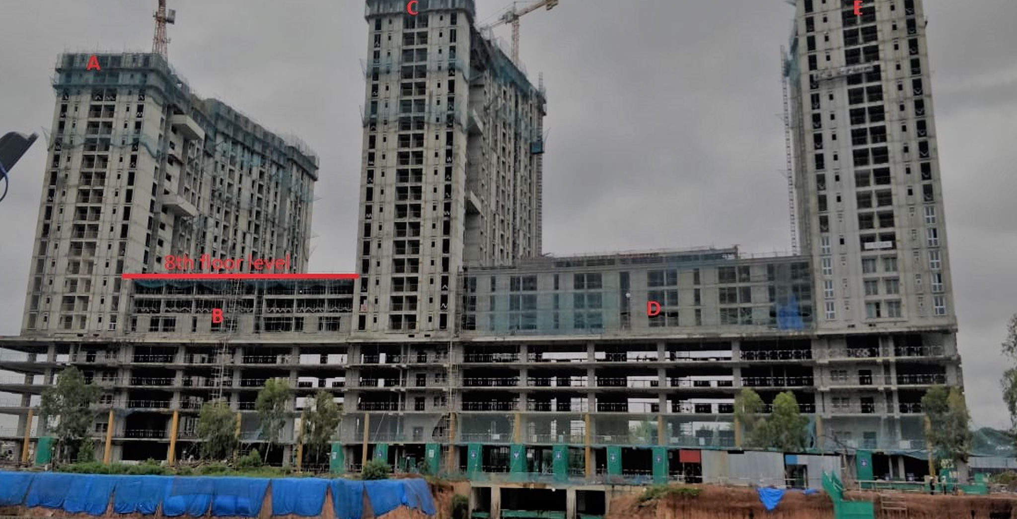 Aug 2021 - Eden Tower B: Completion of 8th floor slab