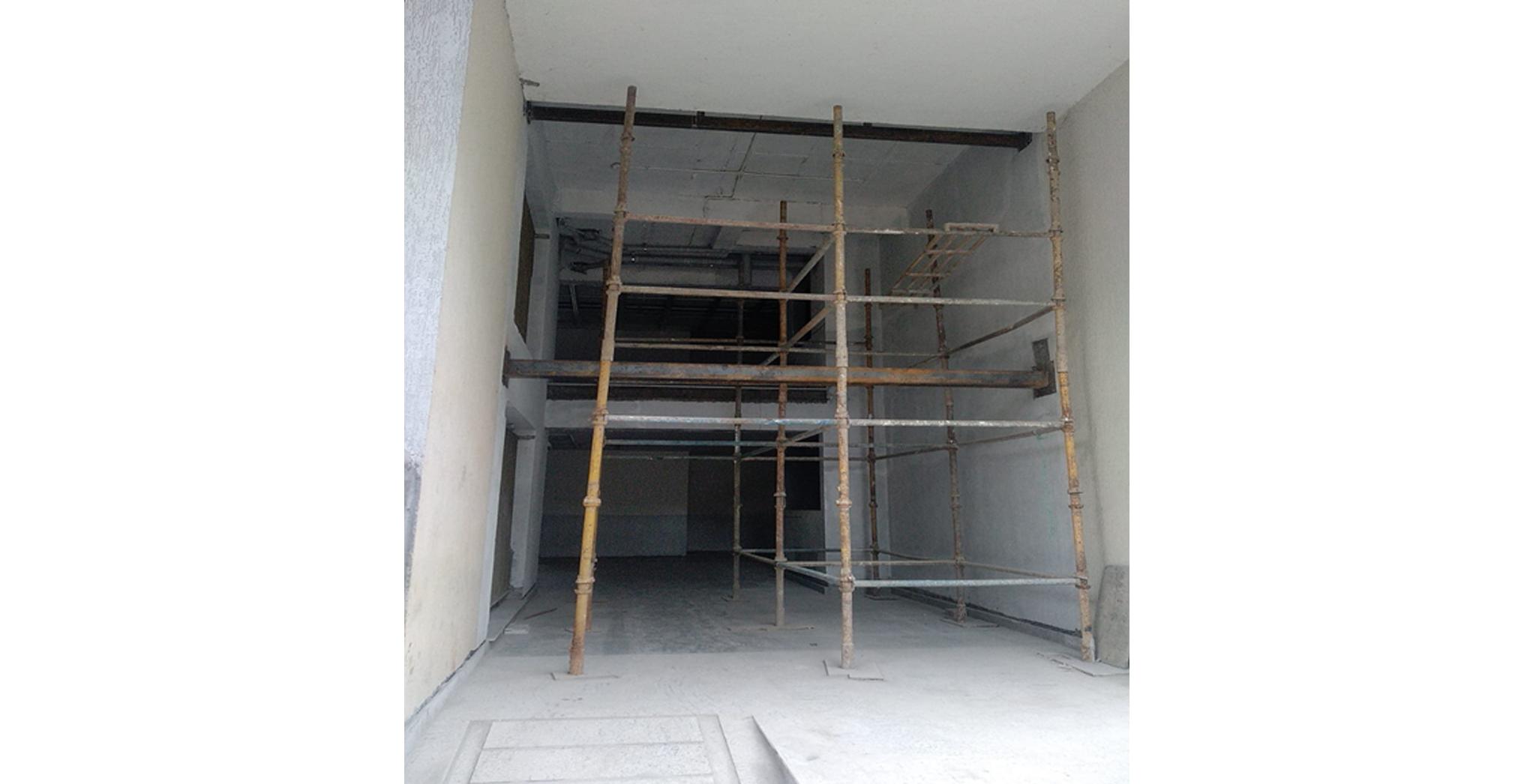 Aug 2021 - E Block: Tower Entrance works in progress