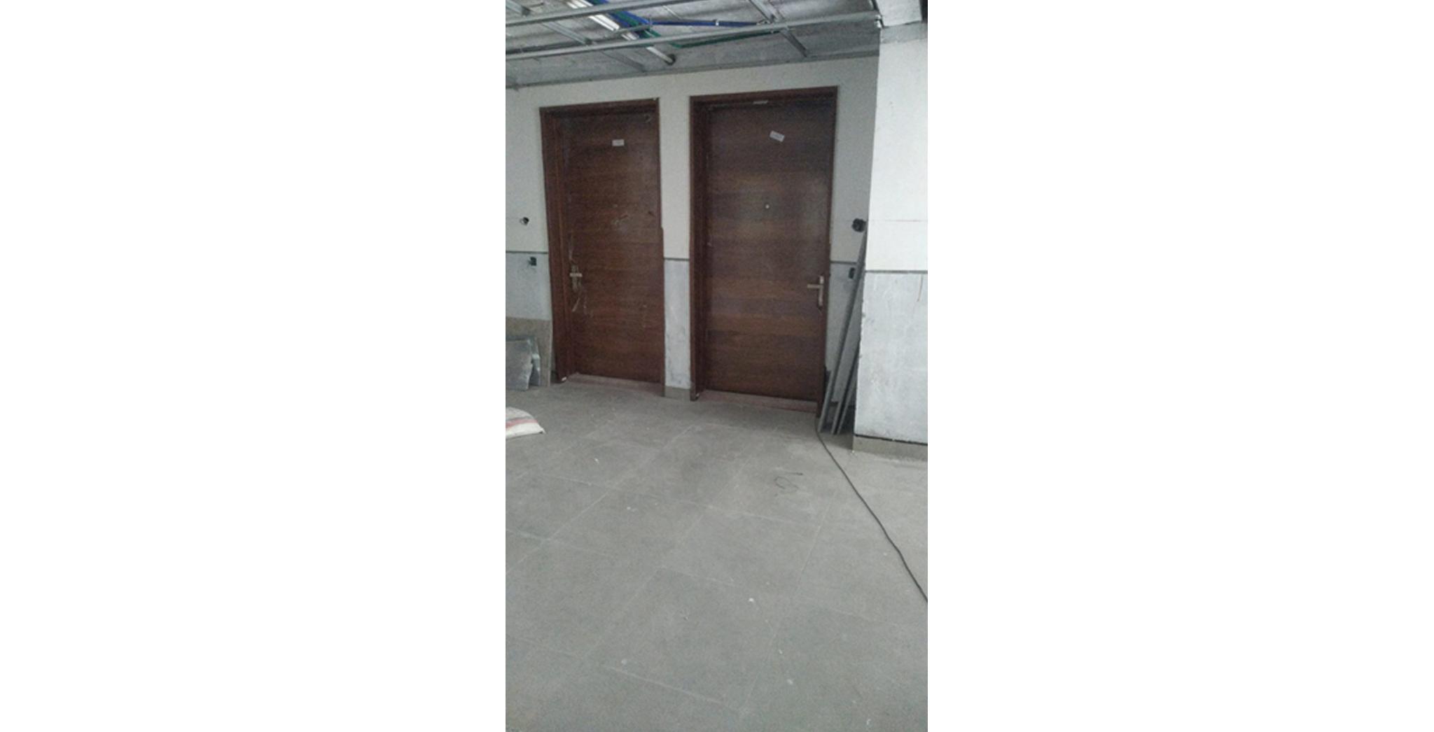 Aug 2021 - F Block: Wooden Door fixing in progress