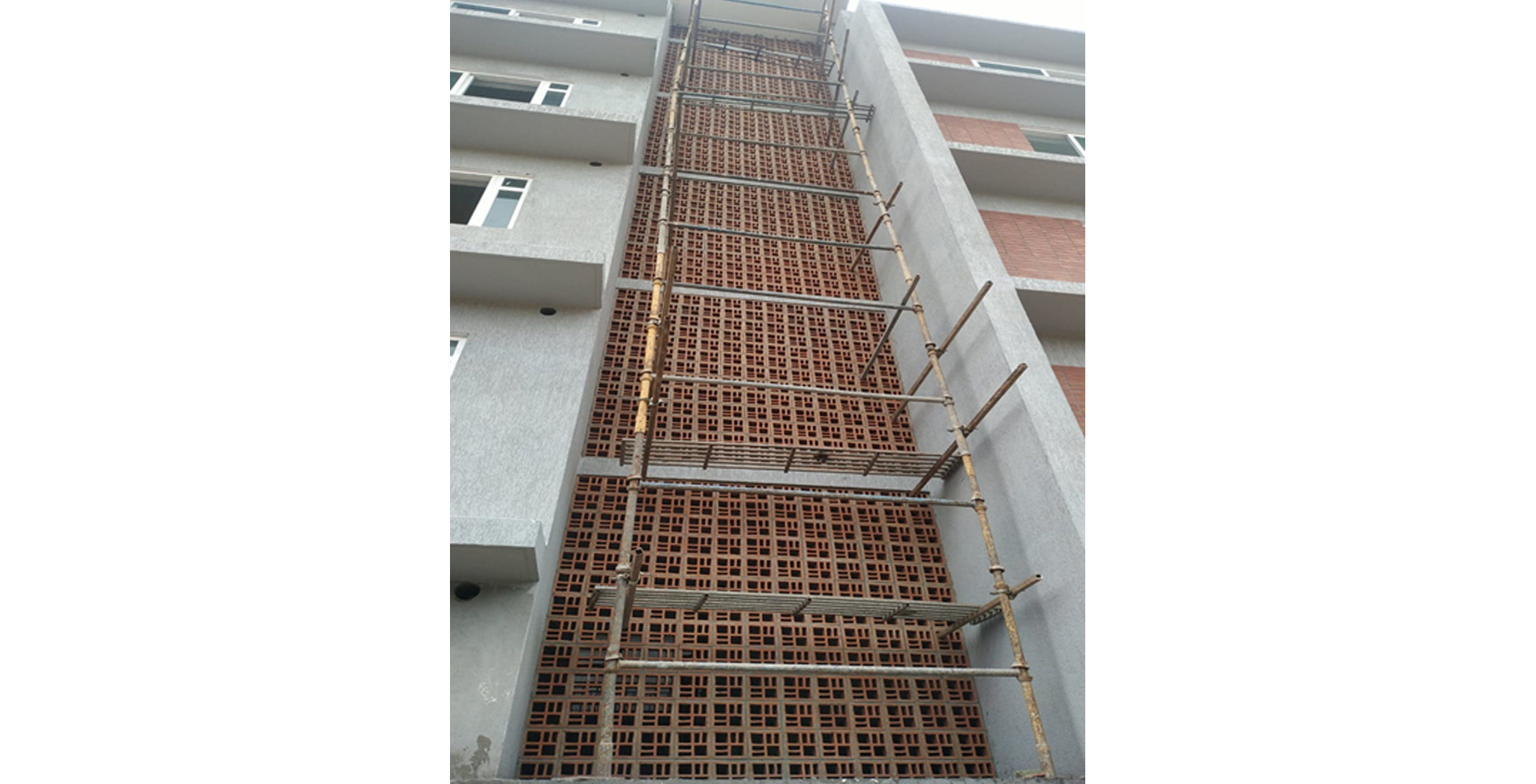 Aug 2021 - H Block: Staircase jally work in progress