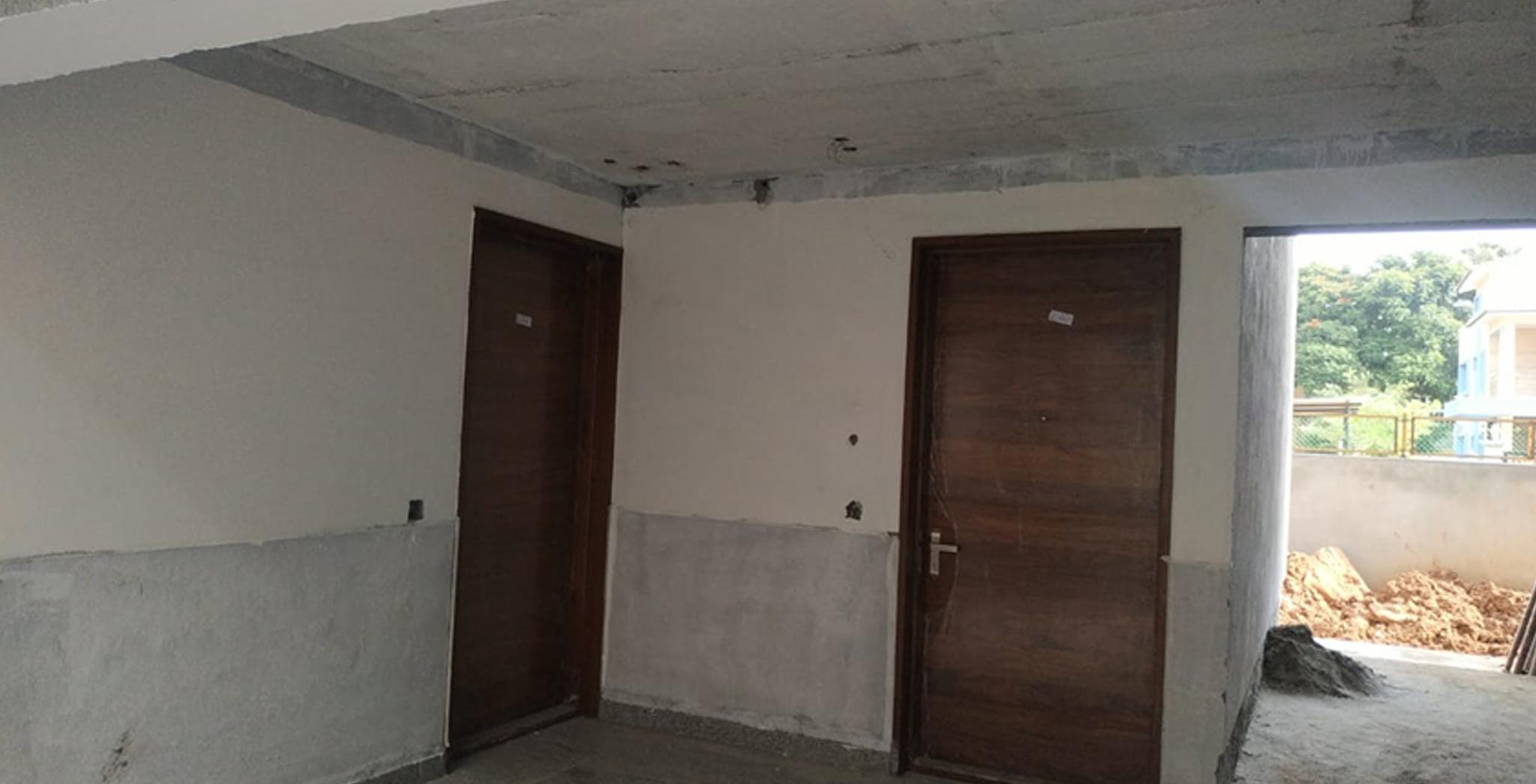 Aug 2021 - J Block: Lobby Painting work in progress