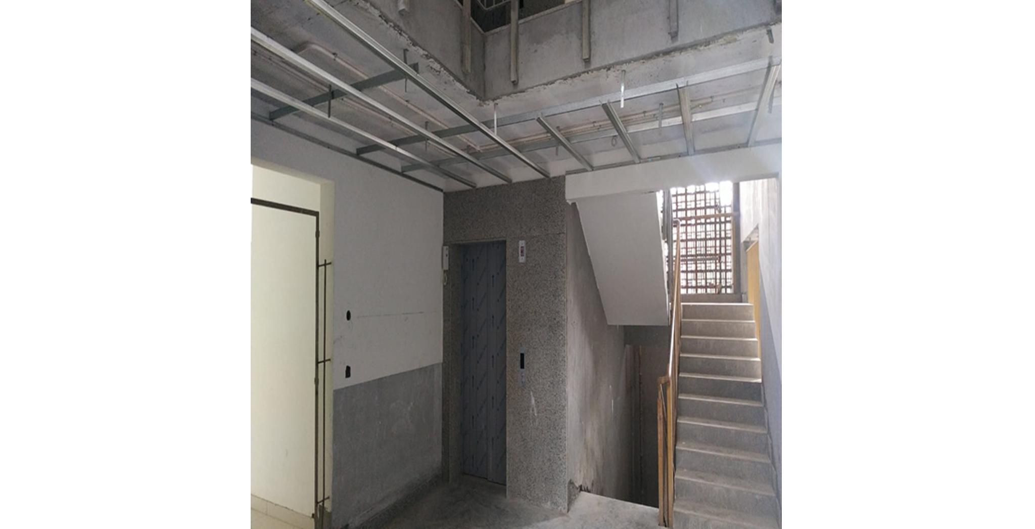 Aug 2021 - K Block: Lobby False ceiling work in progress