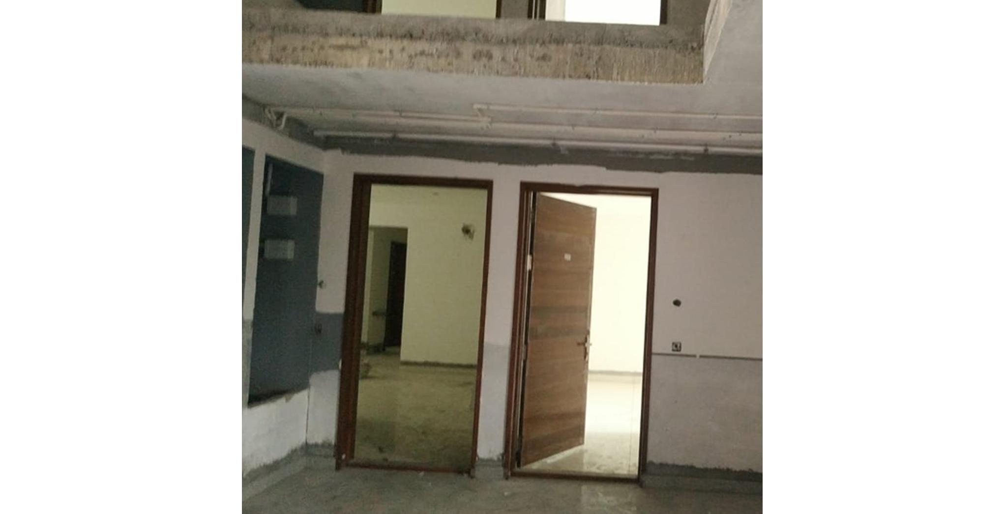 Aug 2021 - L Block: Ground floor lobby finishes work in progress