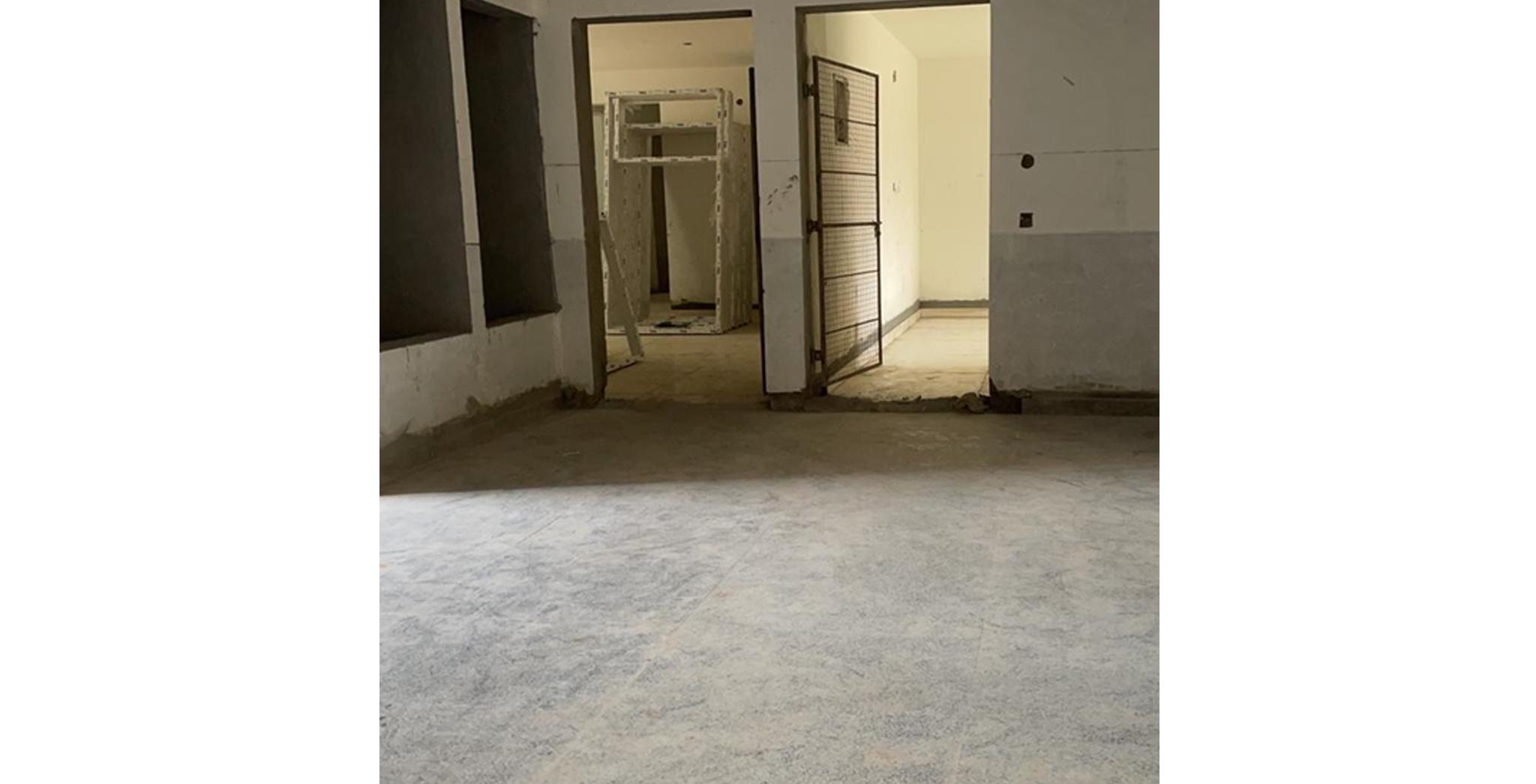 Aug 2021 - M Block: Ground floor lobby Flooring work in progress