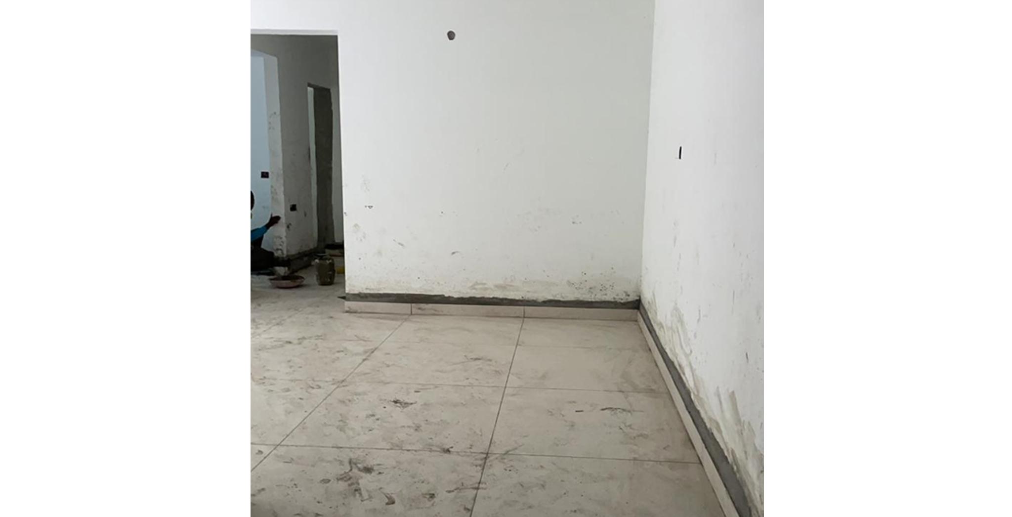 Aug 2021 - N Block: Flooring work in progress