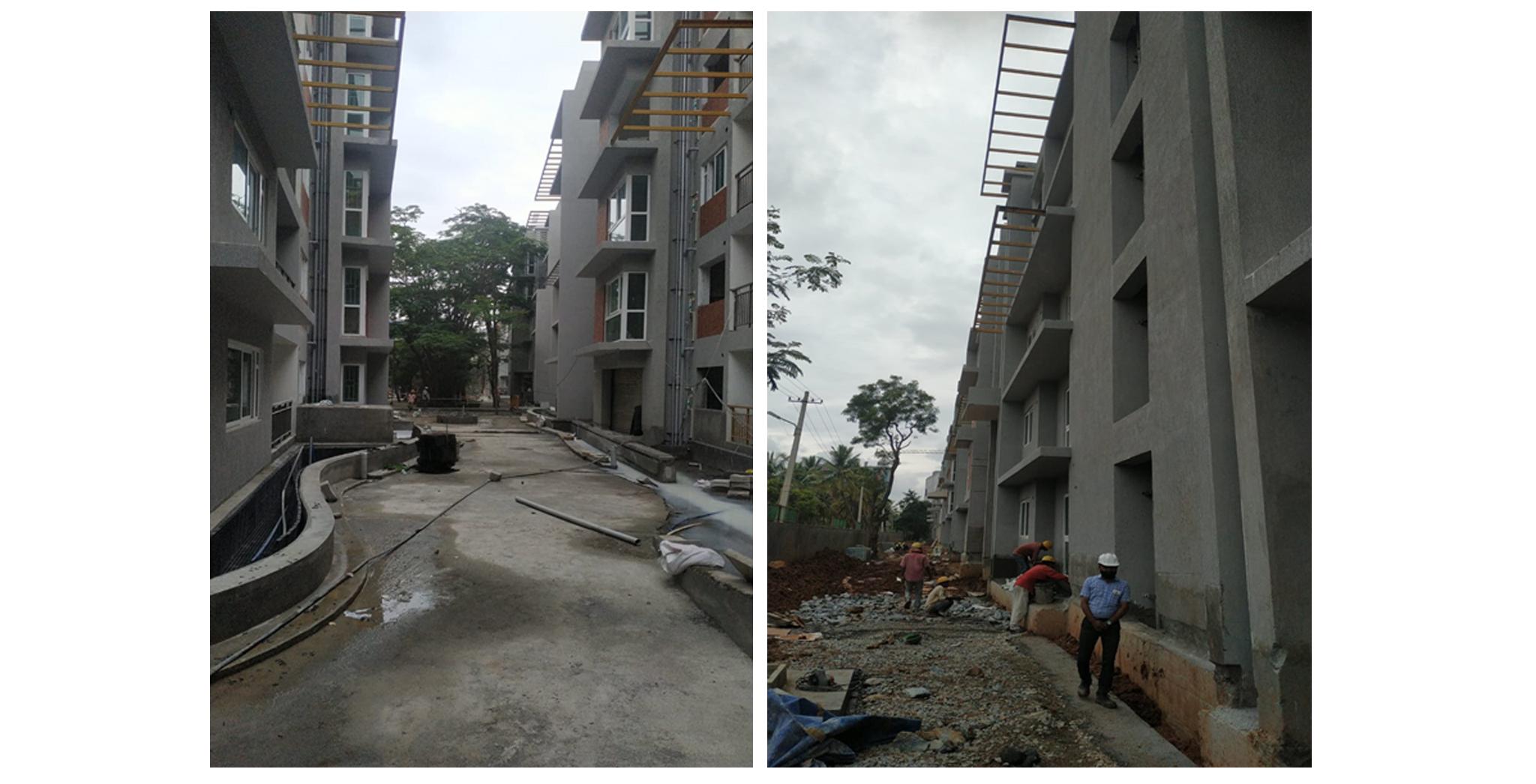 Aug 2021 - External development: Children play area work in progress