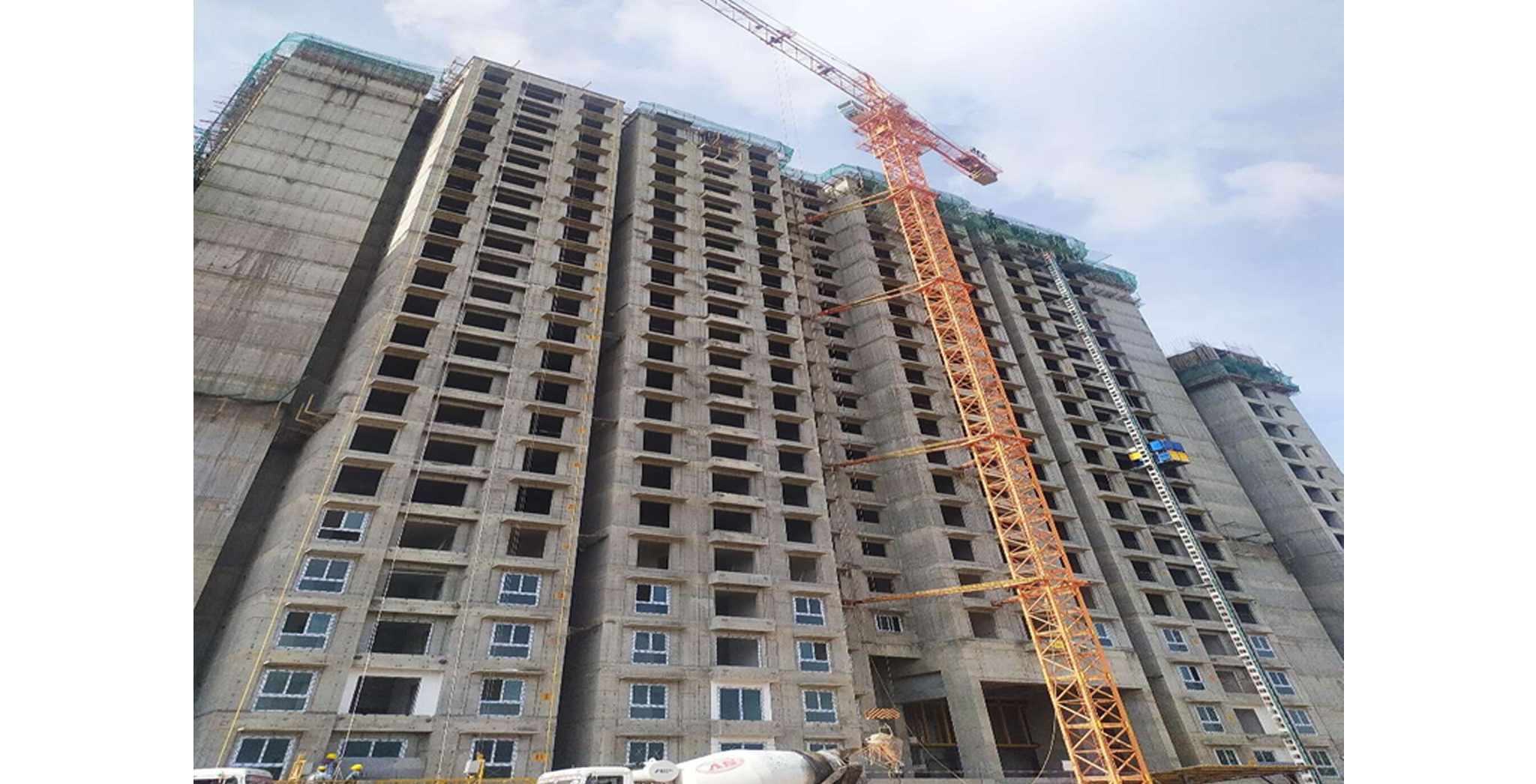 Aug 2021 - Gallium Block: GF to 21st  Floor Elevation South side