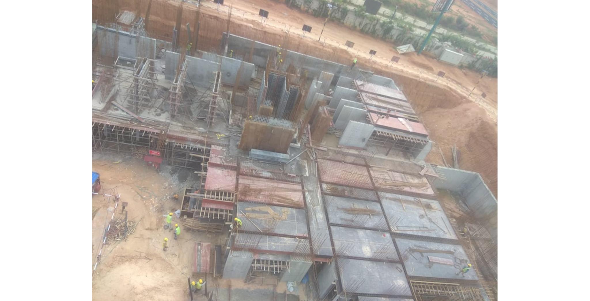 Aug 2021 - Krypton Block: Ground Floor Pour-1 Slab shuttering in progress