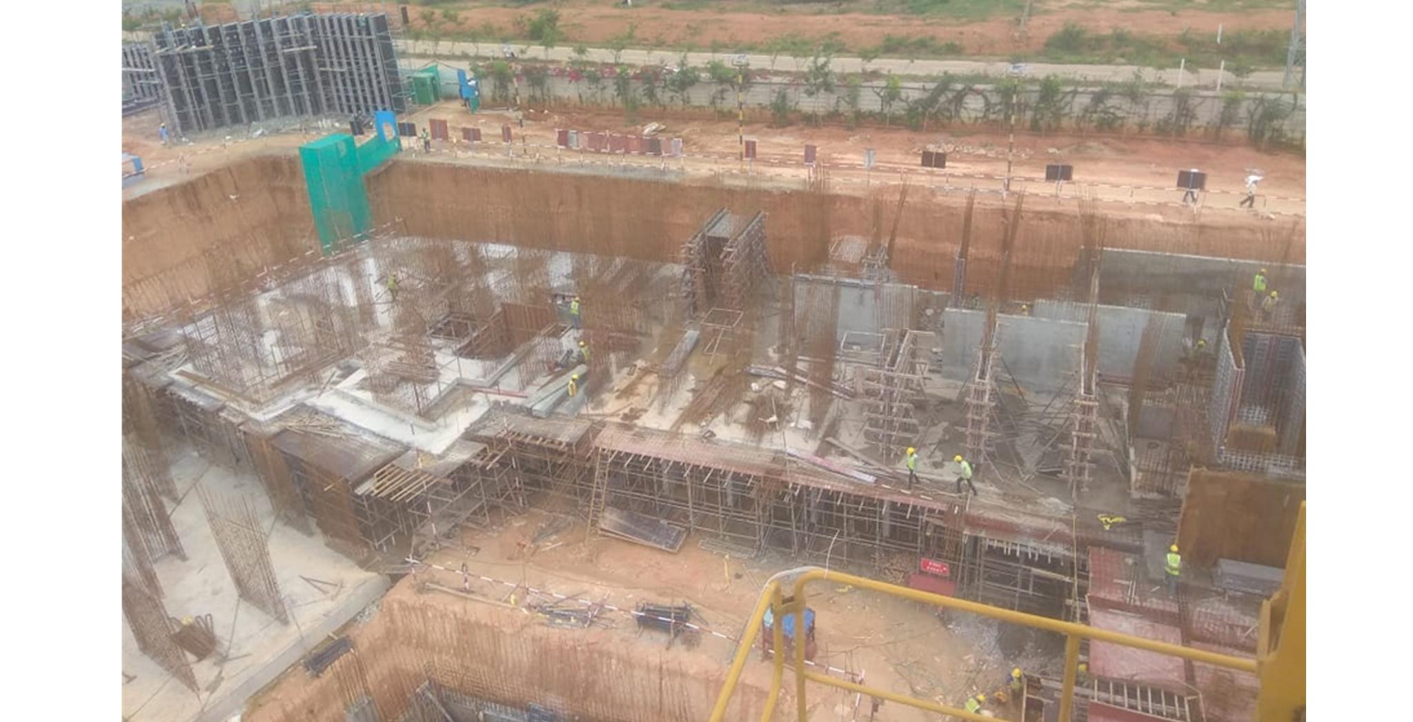 Aug 2021 - Krypton Block: Upper basement Pour-6 slab concrete completed