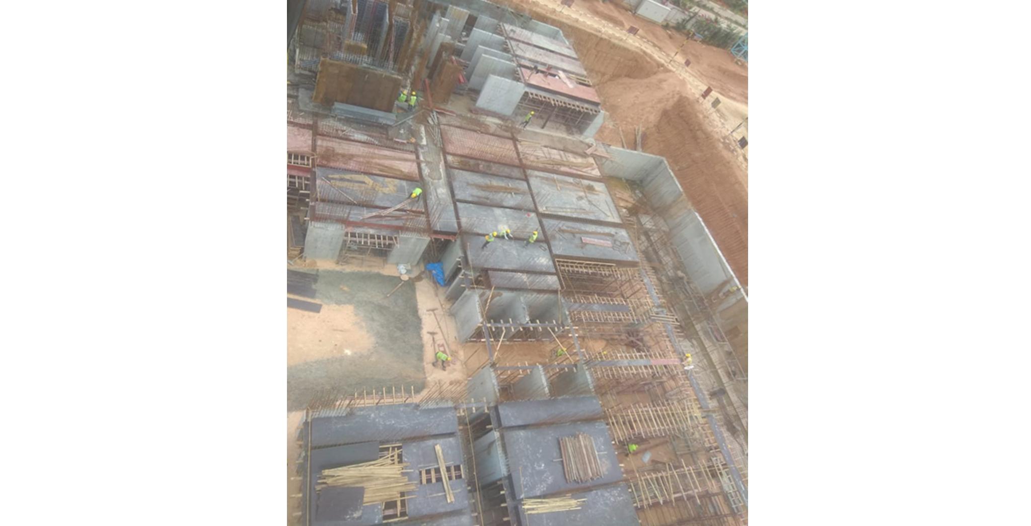 Aug 2021 - Krypton Block: Upper basement Pour-2 slab shuttering in progress