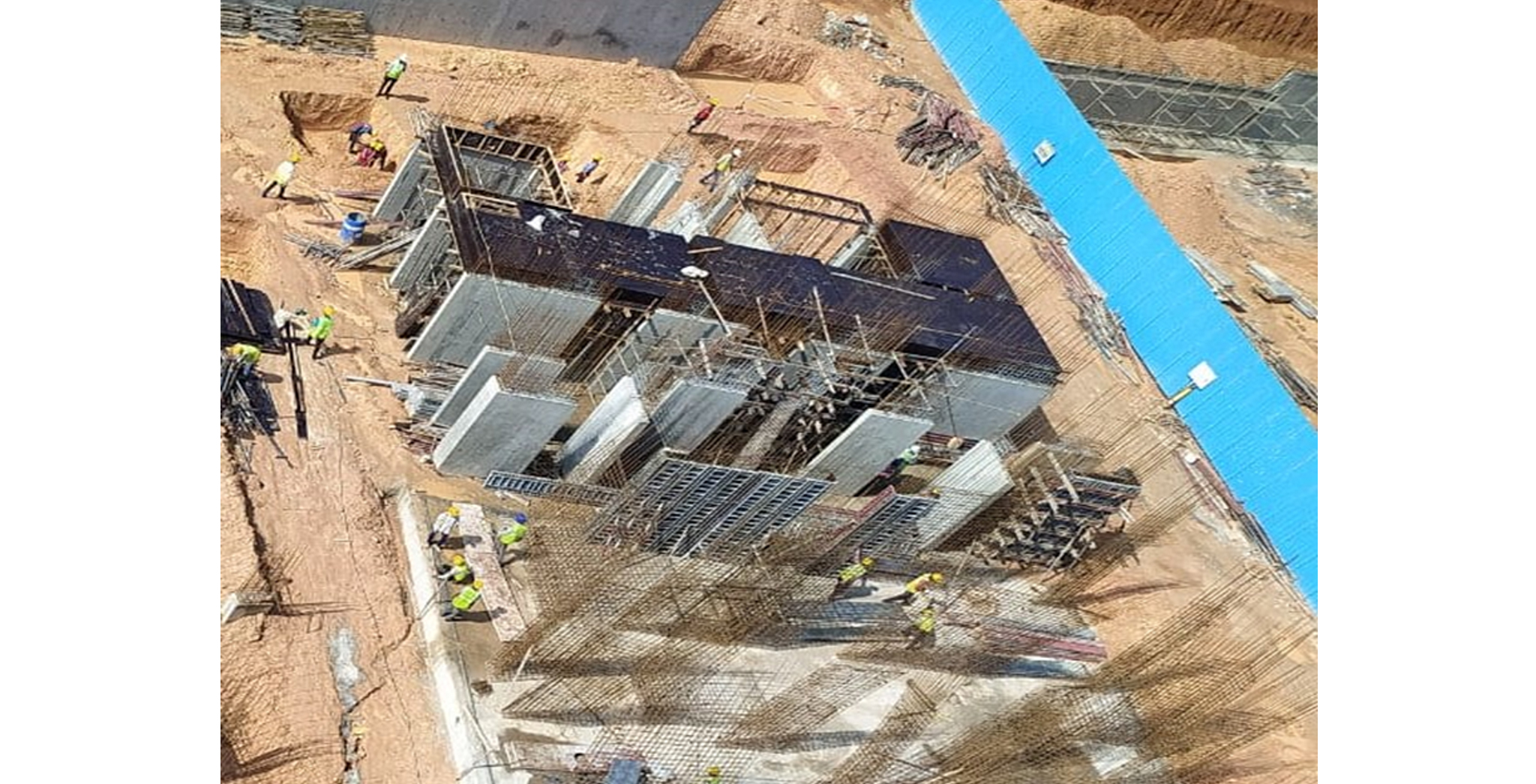 Aug 2021 - Krypton Block: Upper basement Pour-4 slab shuttering in progress