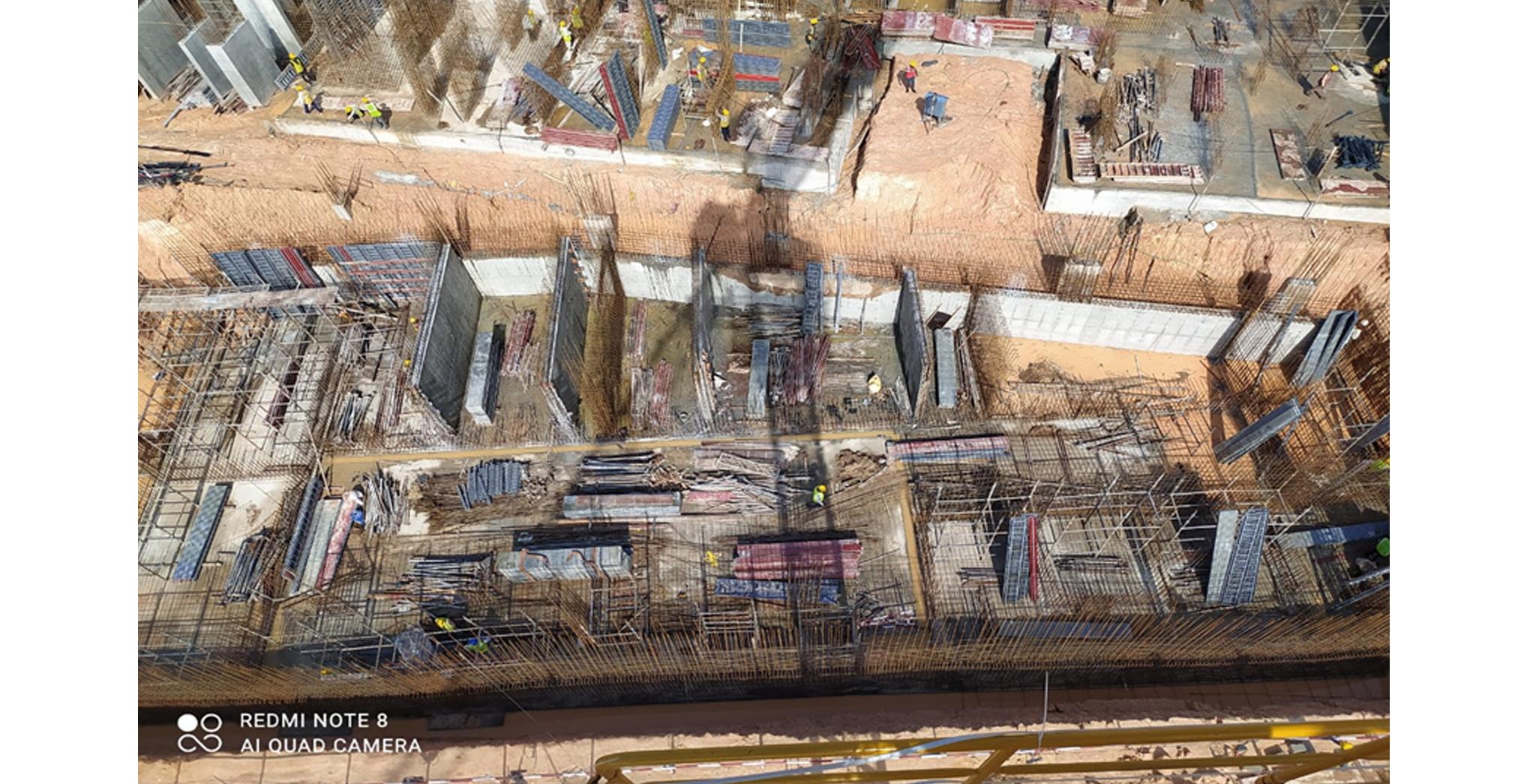 Aug 2021 - Krypton Block: STP Wall concrete in progress