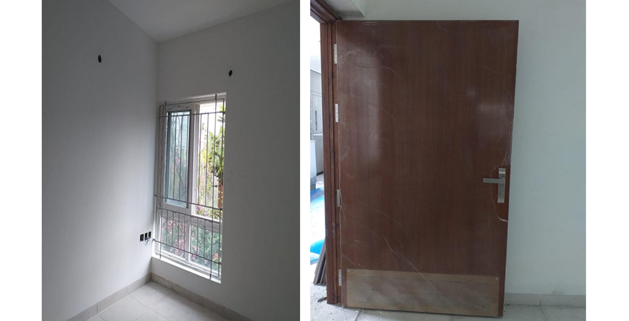 Aug 2021 - Block K, L, M and N: Window & door fixing works in progress