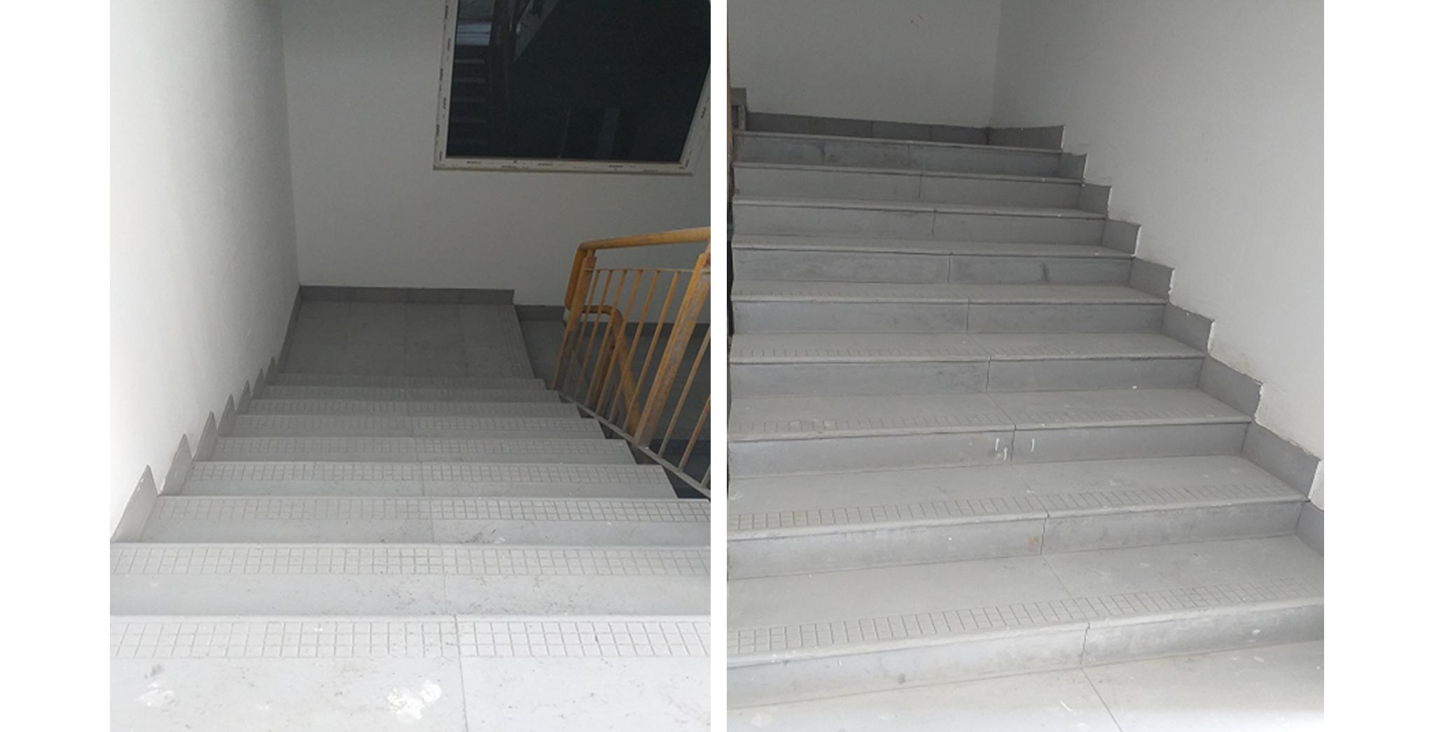 Aug 2021 - Block K, L & M: Staircase Flooring Works in progress