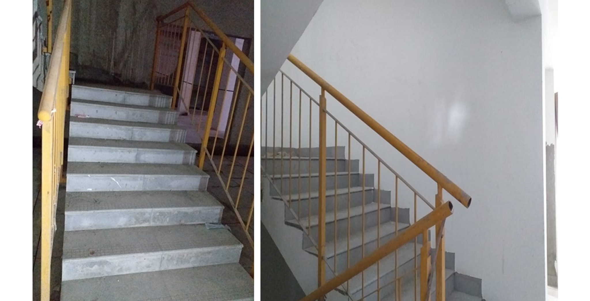 Aug 2021 - Block N, P and J: Staircase Flooring Works in progress at basement and above floor levels