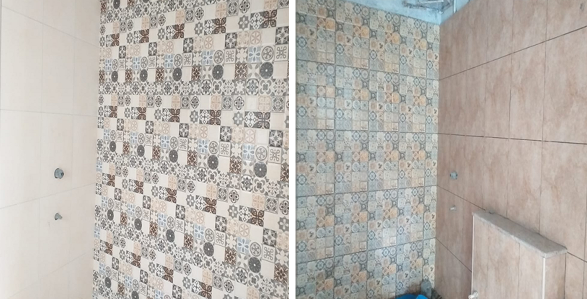 Aug 2021 - Block H & G: Toilet dado Works in progress