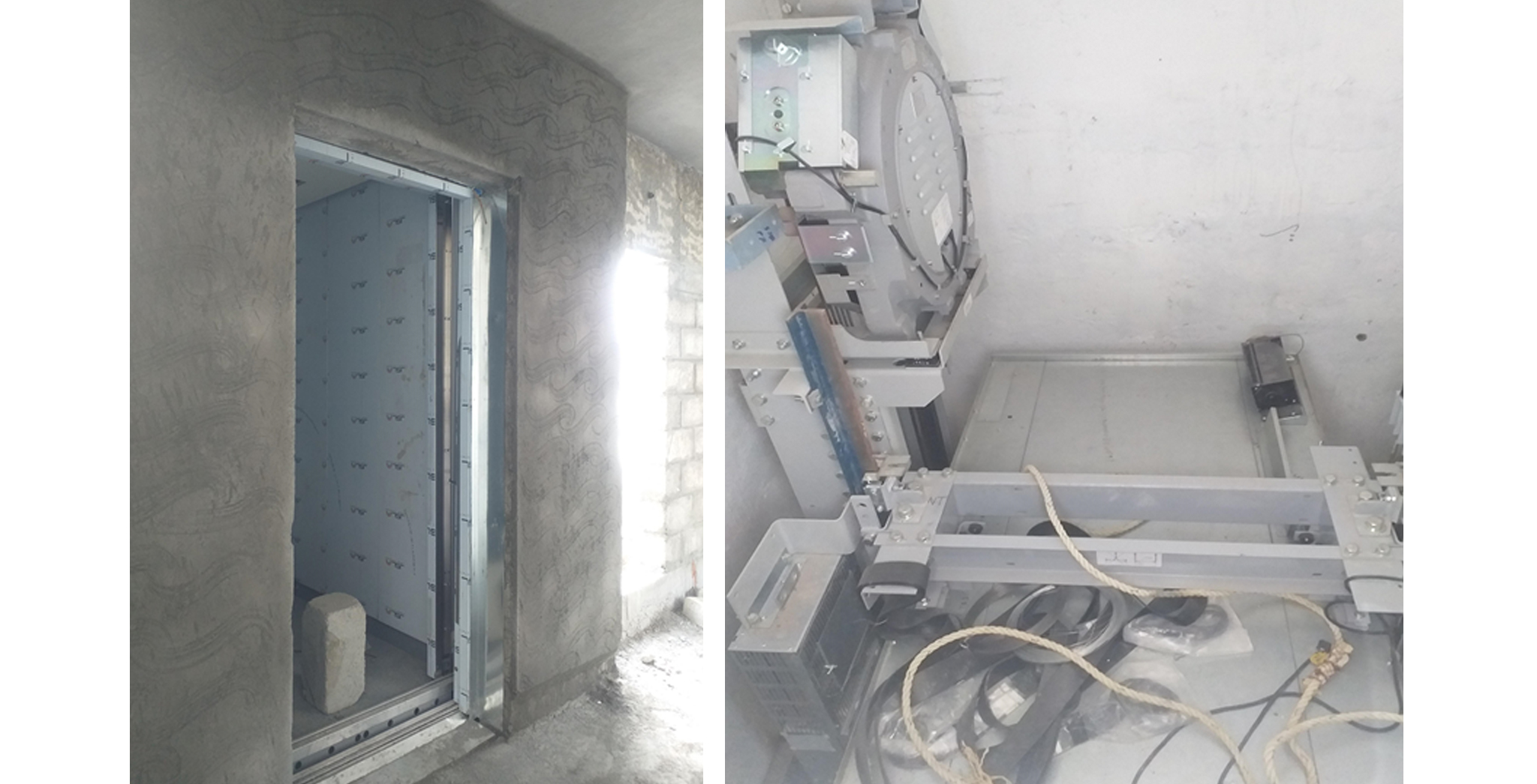 Aug 2021 - Lift Erecting Works in progress: At Block Q, R, F, G, H and A