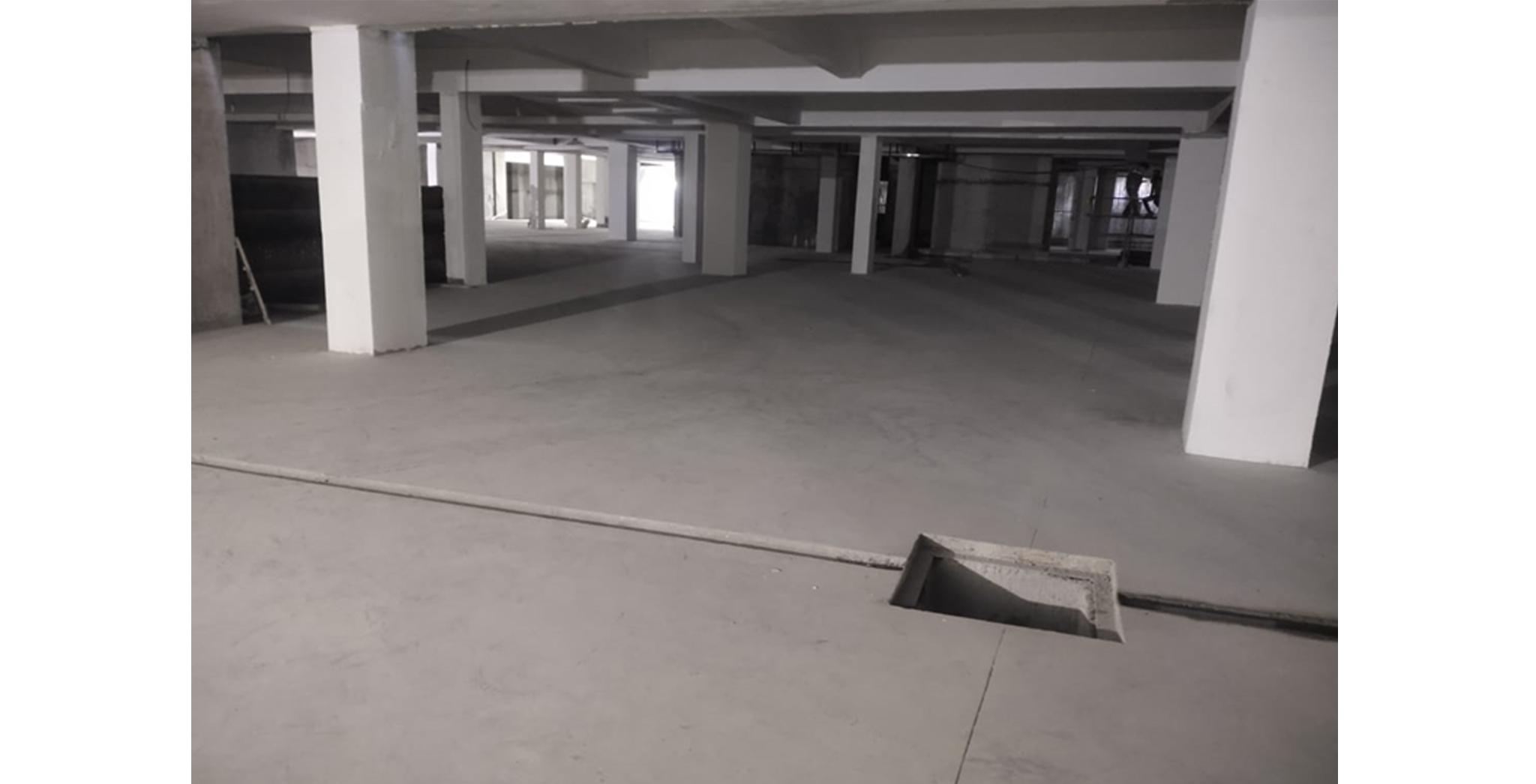 Aug 2021 - Block K, L, M, N, P, Q, R, S, A, E, F and D: Basement Flooring VDF works in progress – 53% completed