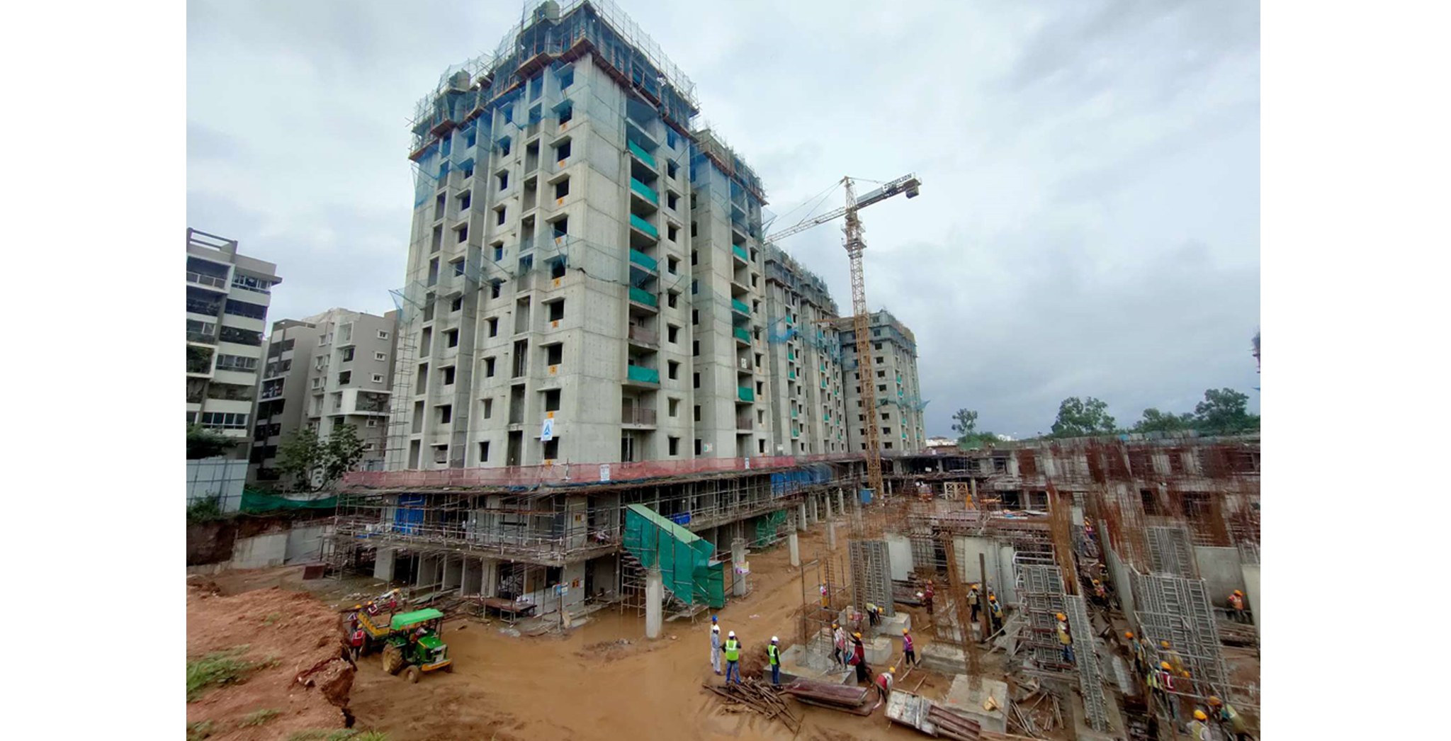 Aug 2021 - Block A1: 9th floor (70% completed), 10th Floor (25% completed)