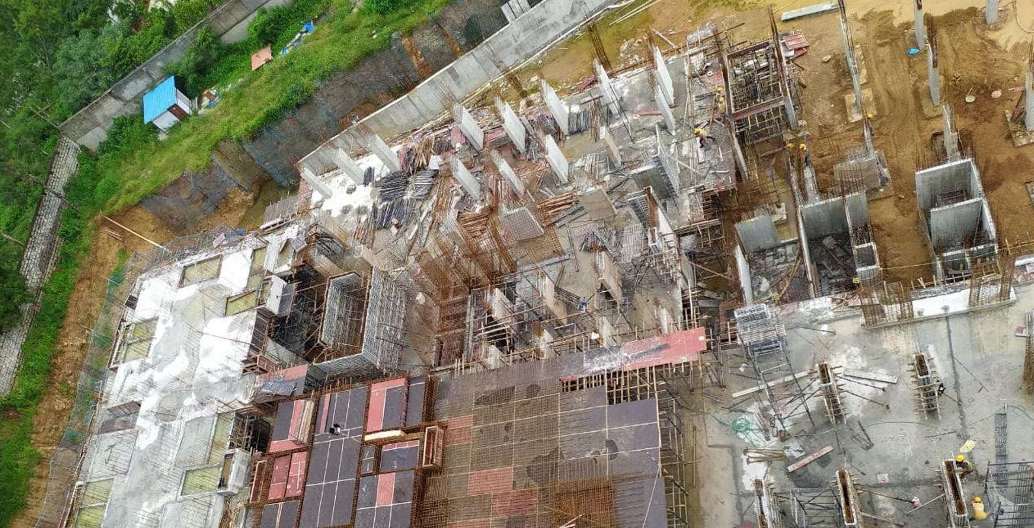 Aug 2021 - Block C: 80% basement-1 slab completed; 20% Ground Floor slab completed