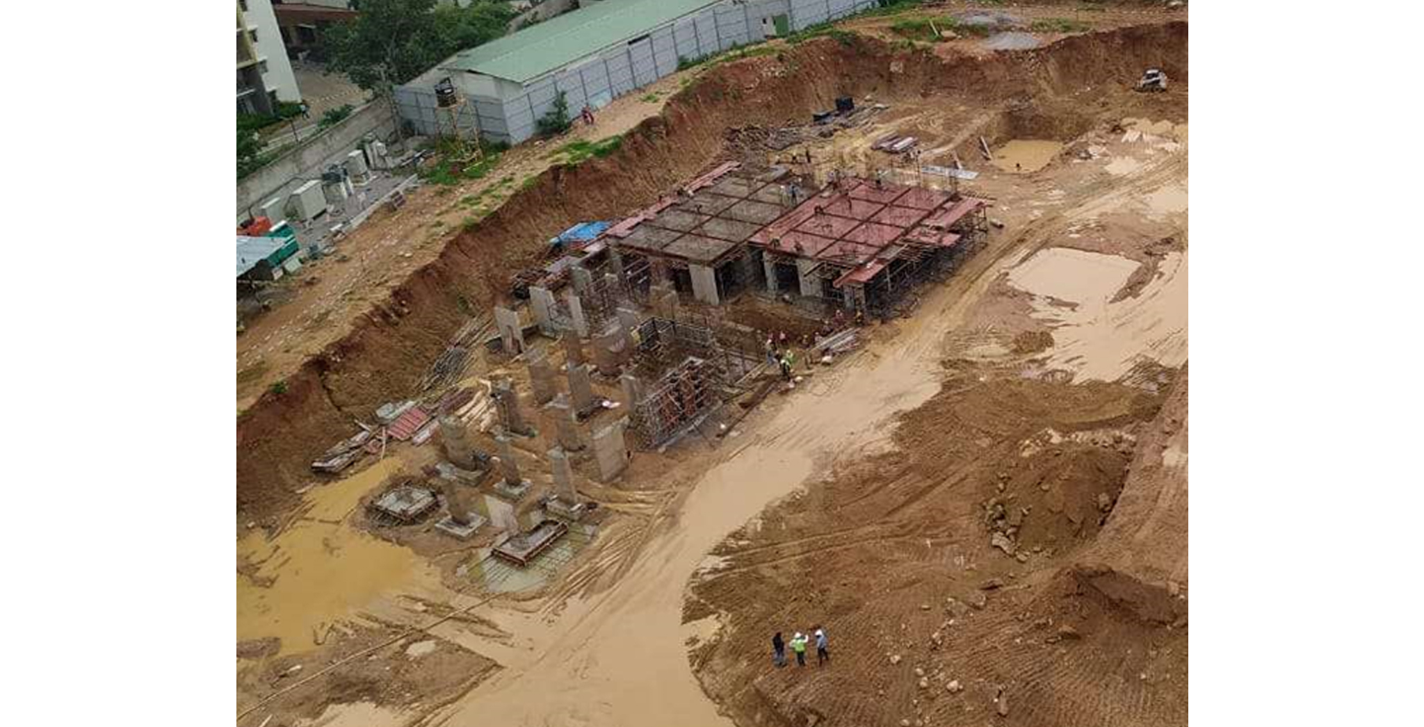 Aug 2021 - Block D: 40% Footings completed. 17% basement-1 slab shuttering completed