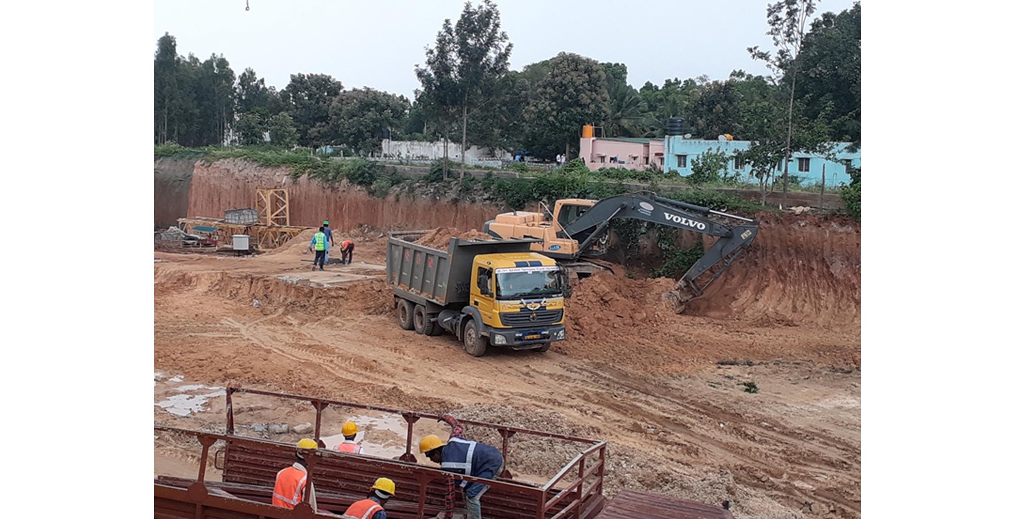 Aug 2021 - Block A: Mass excavation work in progress.