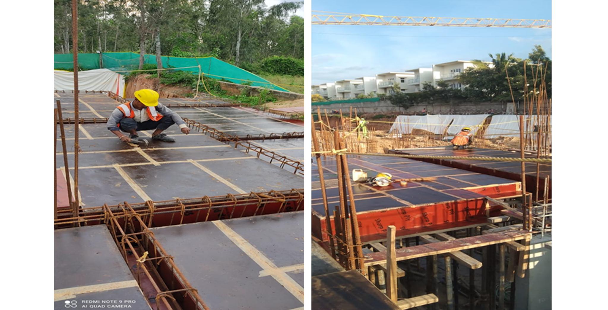 Aug 2021 - Block D: Ground floor D- Block extension of slab shuttering work in progress