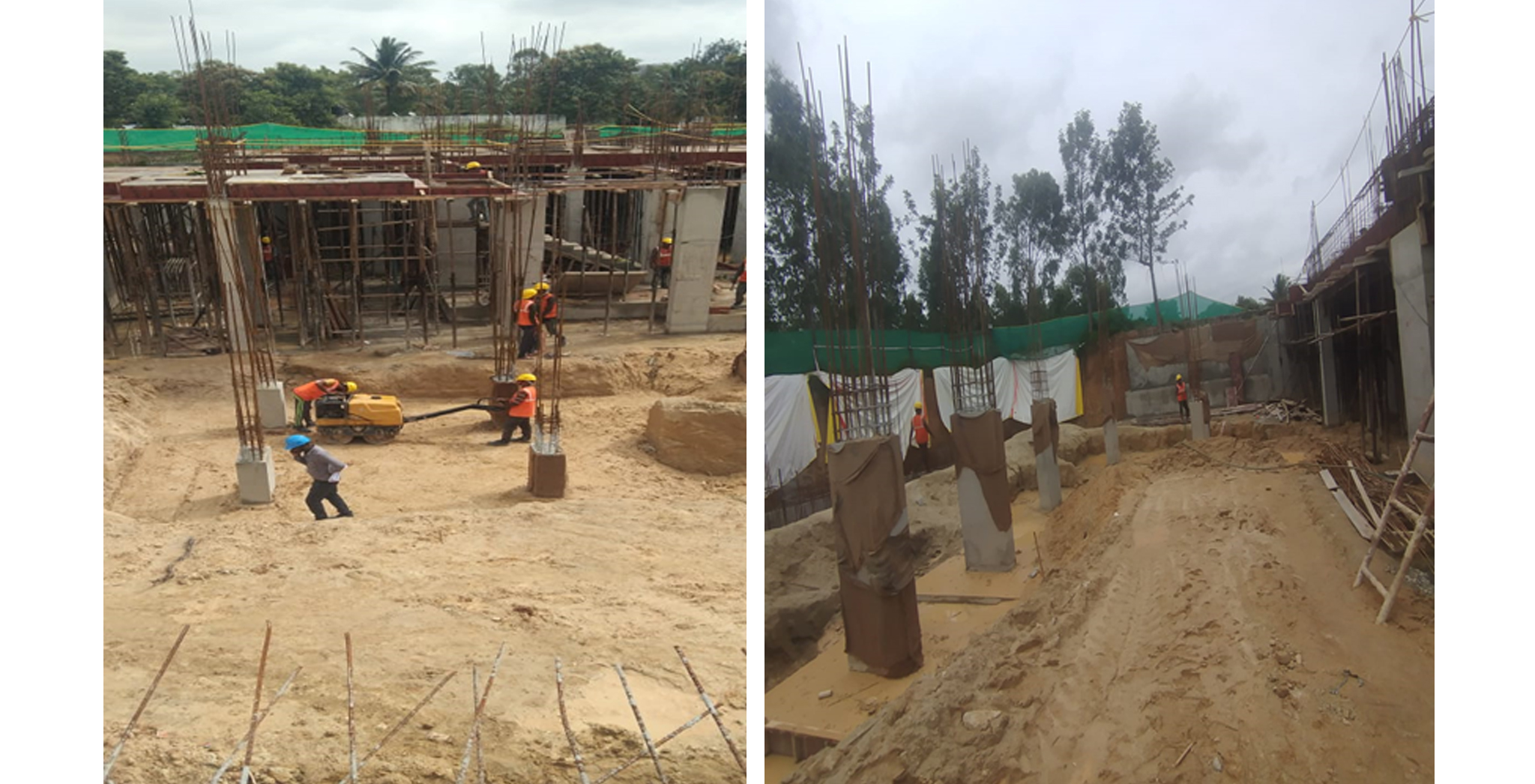 Aug 2021 - Block D: Back filling and soil consolidation for footing works in progress