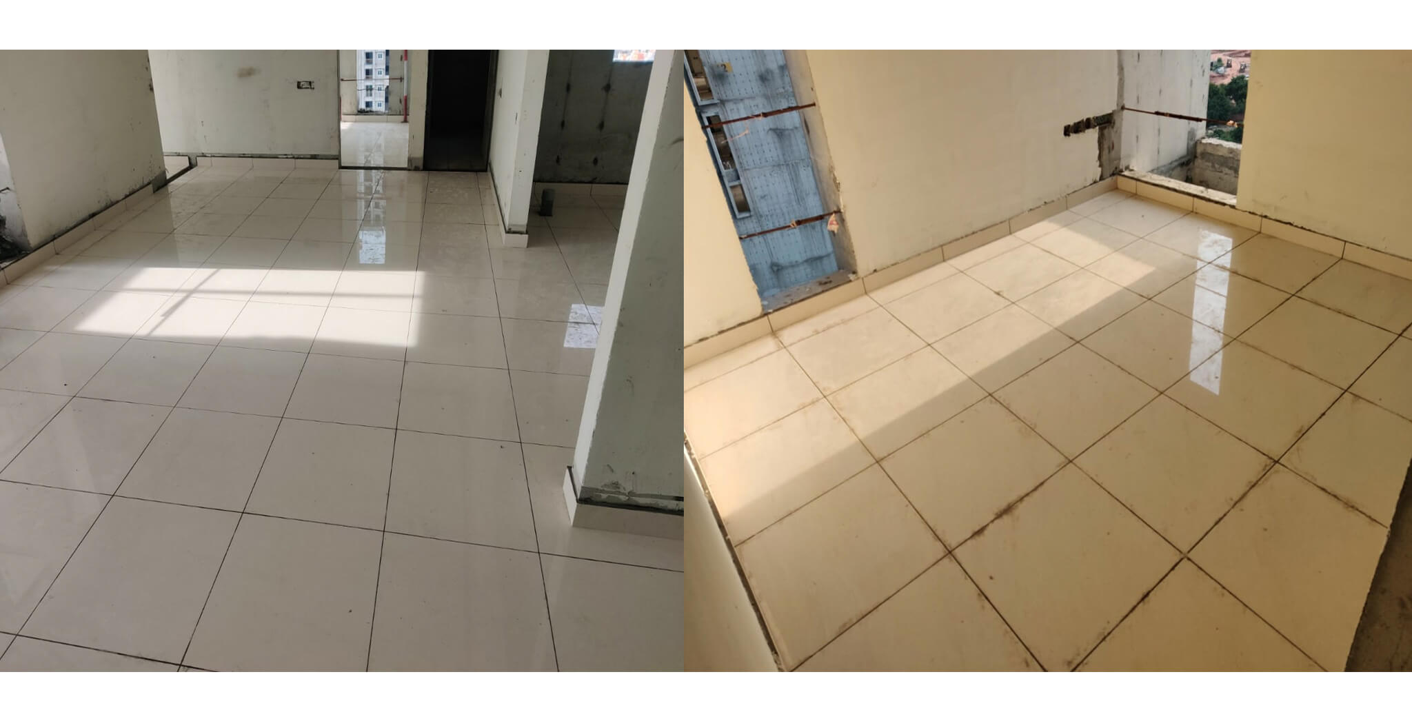 Aug 2021 - Serene: Flooring in progress in all towers
