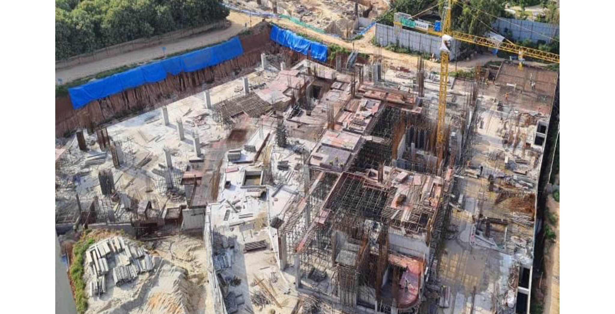 Aug 2021 - Arcadia: First floor slab in  progress