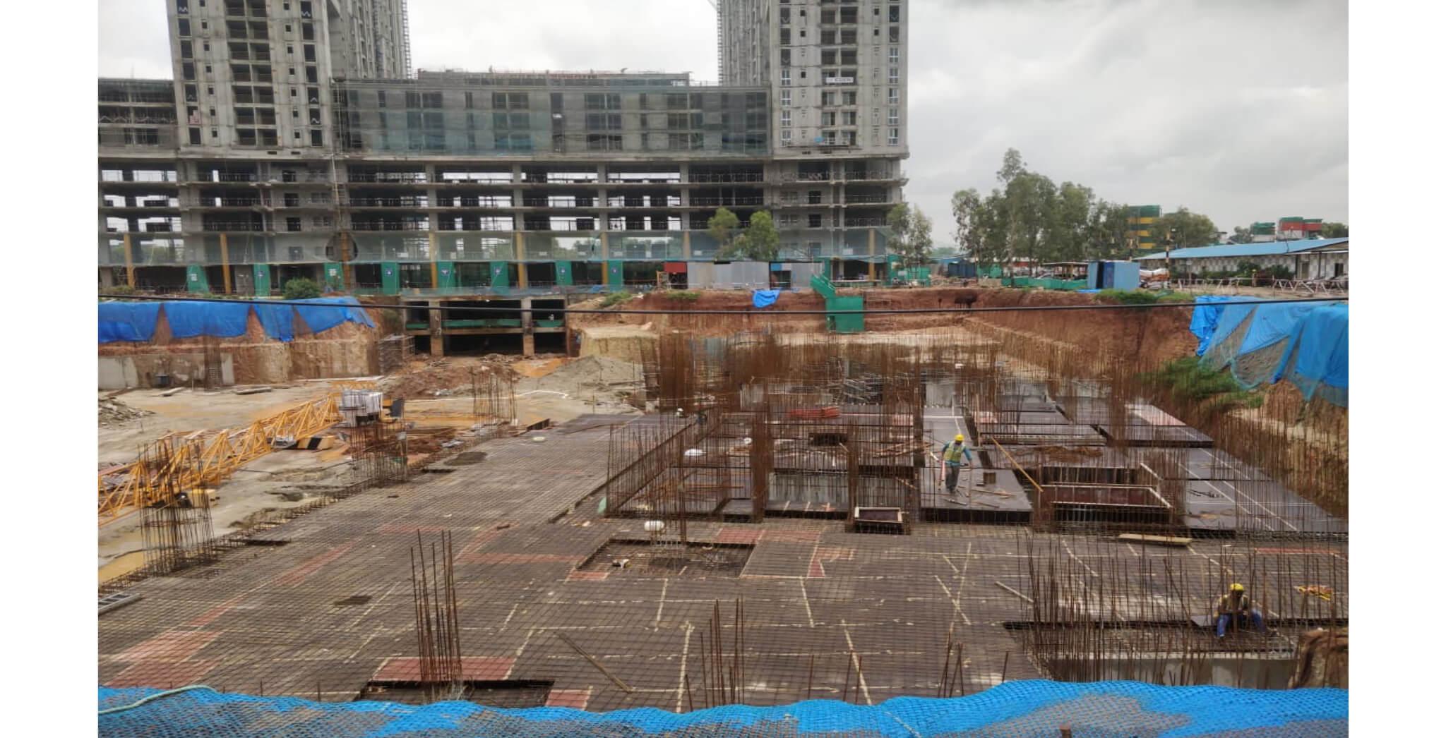 Aug 2021 - Paradise: Tower F, B1- level Slab decking in progress