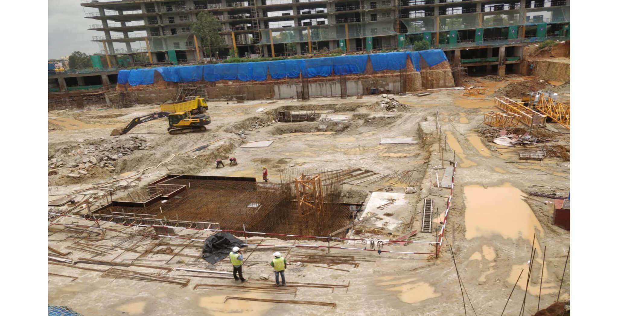 Aug 2021 - Paradise: Tower H, Raft/Footing work in progress