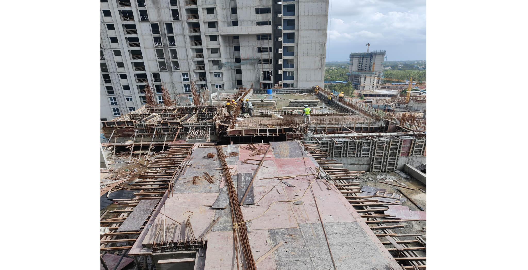Aug 2021 - Eden Tower D: Swimming pool work in progress